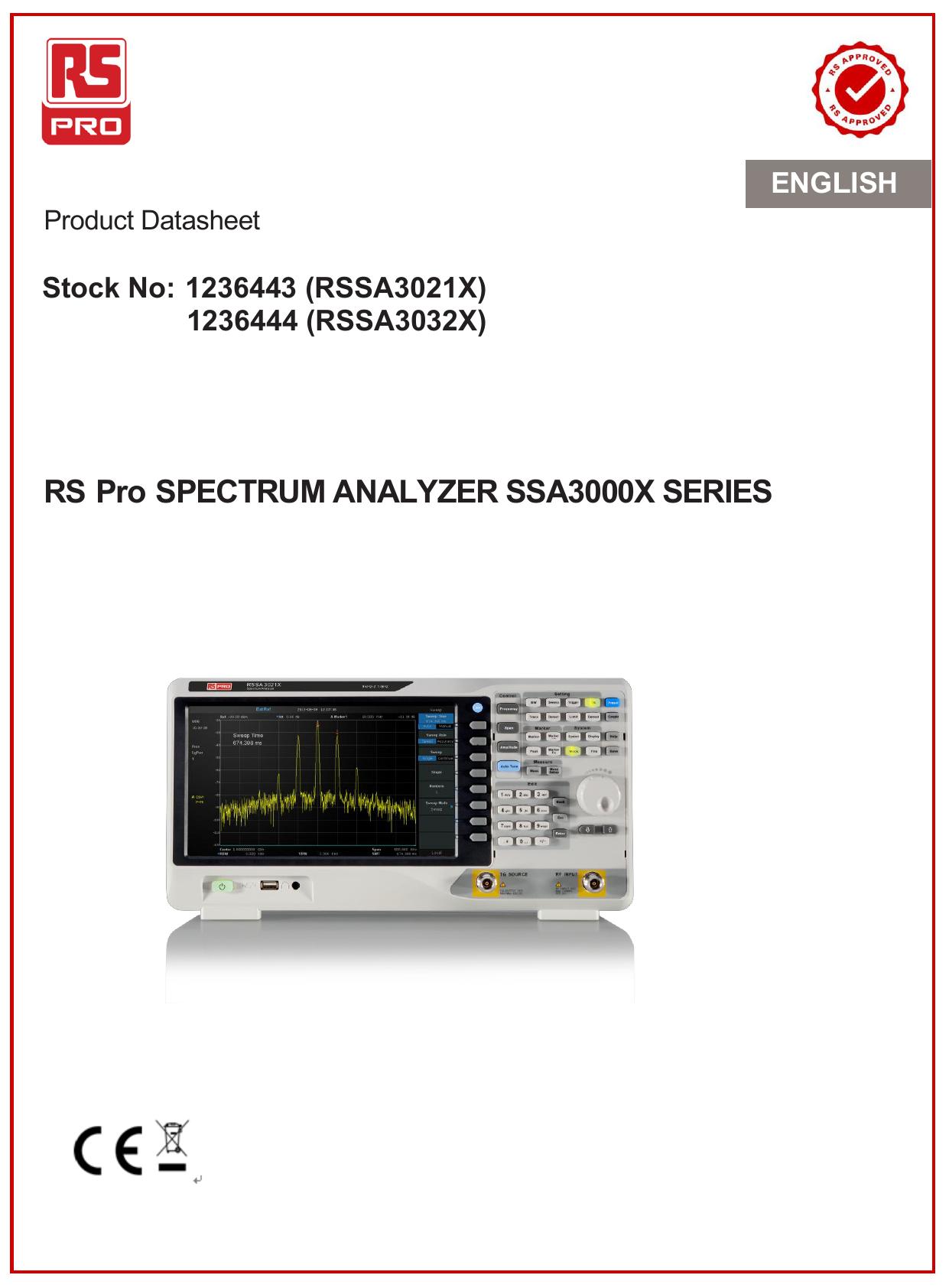 RS Pro SPECTRUM ANALYZER SSA3000X SERIES   manualzz com