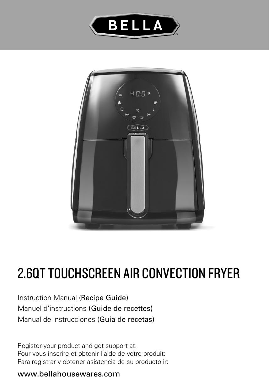 2 6qt touchscreen air convection fryer   manualzz com
