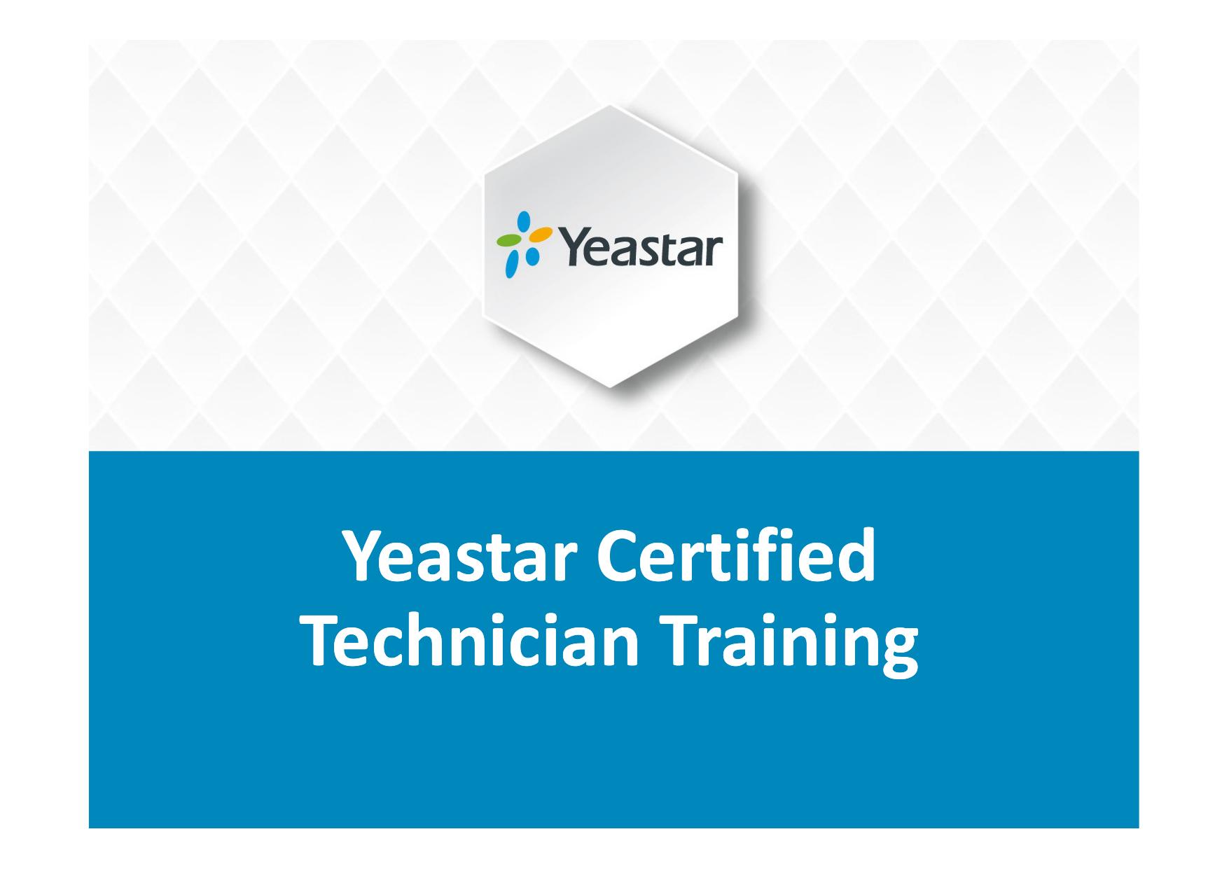 Yeastar Certified Technician Training   manualzz com