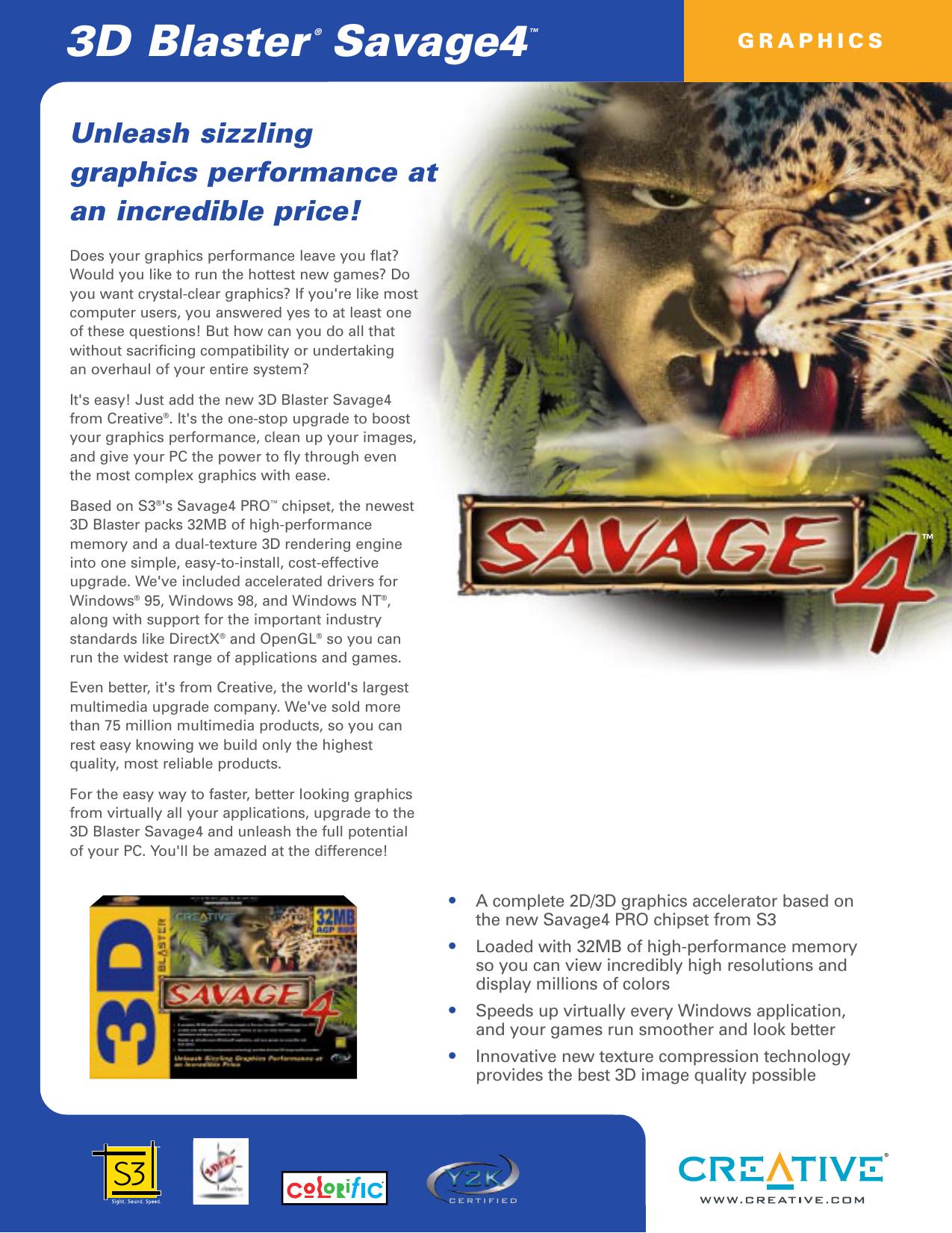 Savage4 DS refresh (Page 1) | manualzz com