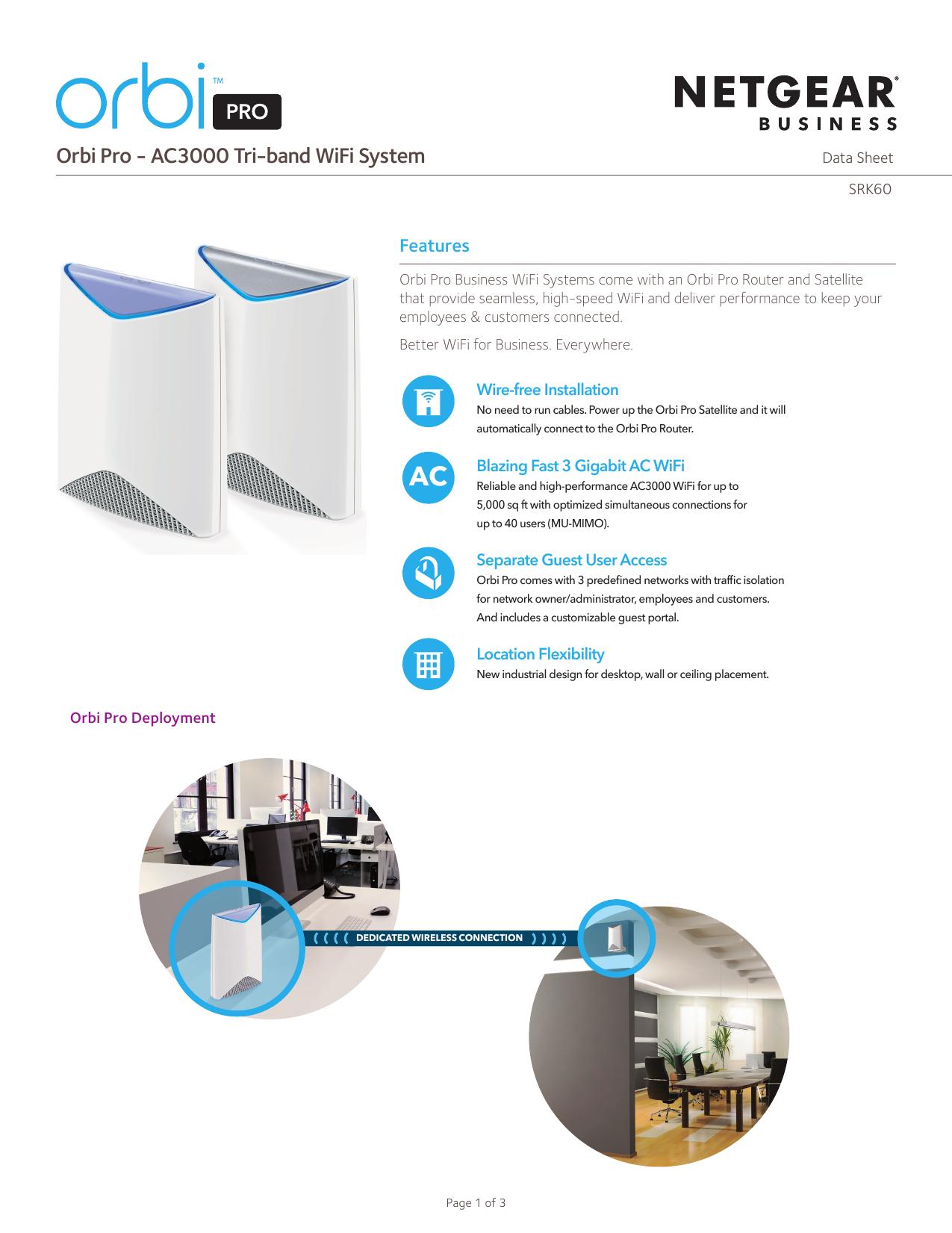 Orbi Pro - AC3000 Tri-band WiFi System | manualzz com