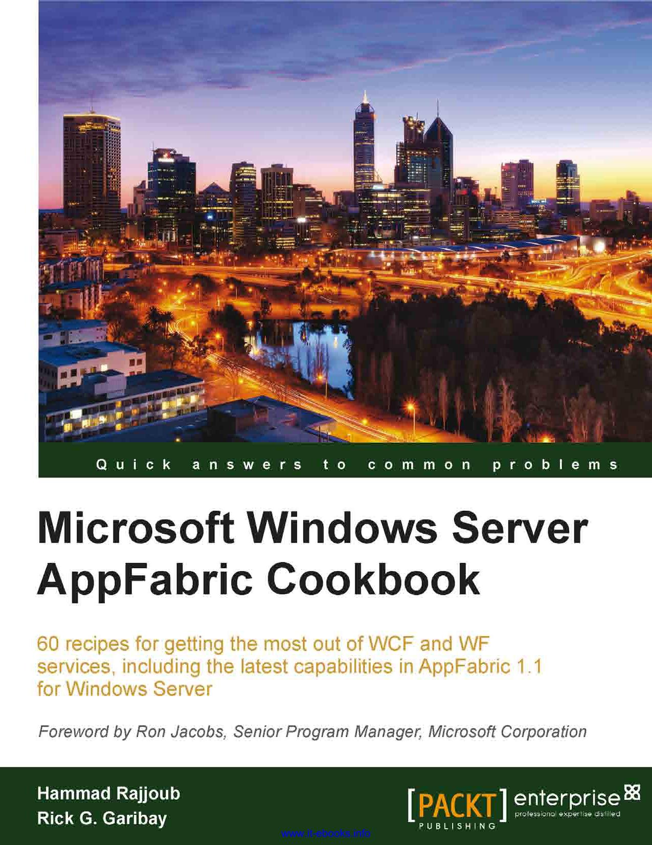 Microsoft Windows Server AppFabric Cookbook   manualzz com