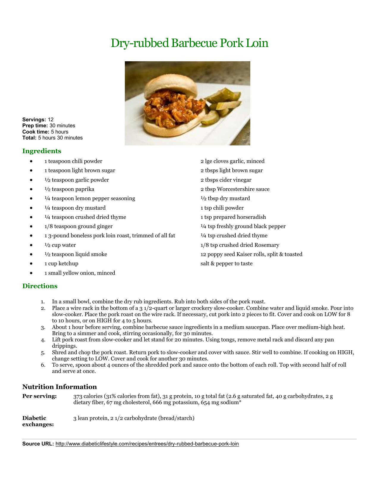 Dry-rubbed Barbecue Pork Loin   manualzz com