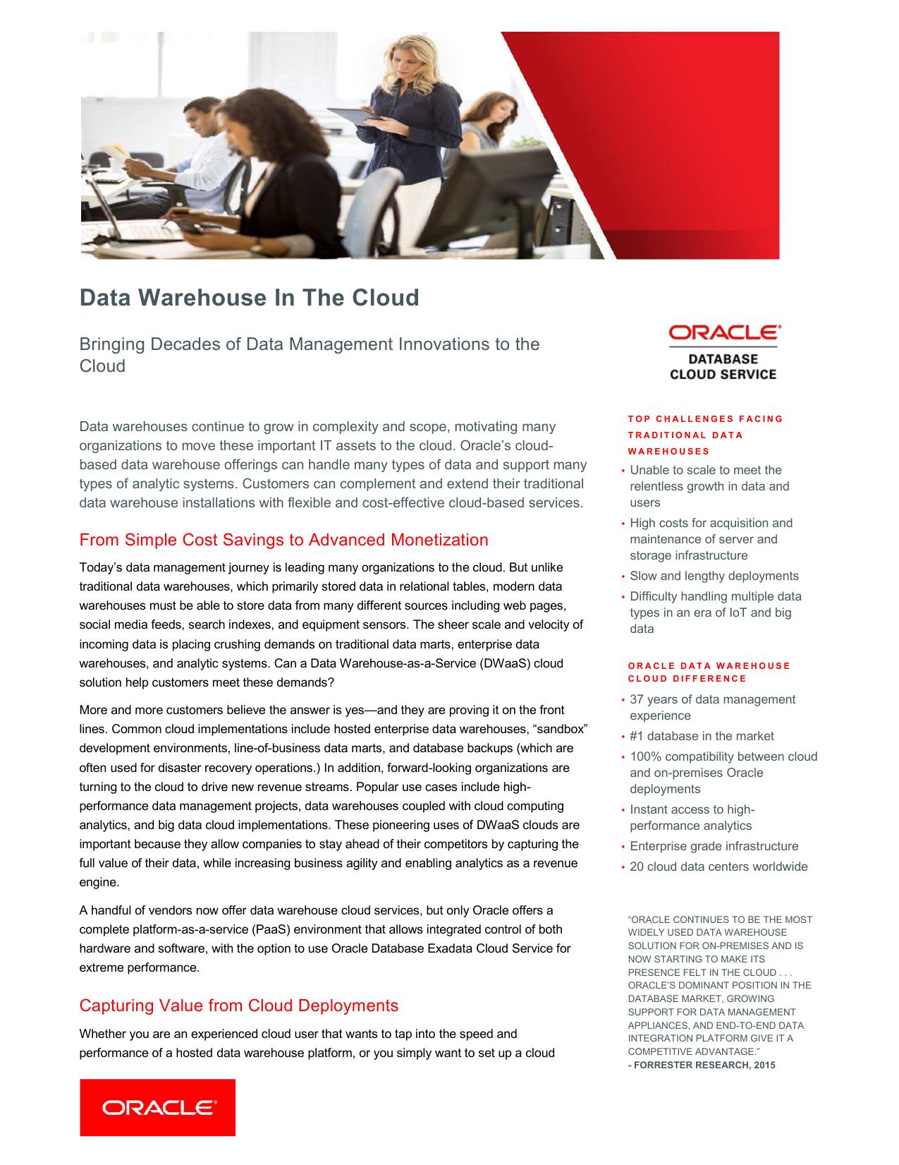 Data Warehouse In the Cloud | manualzz com