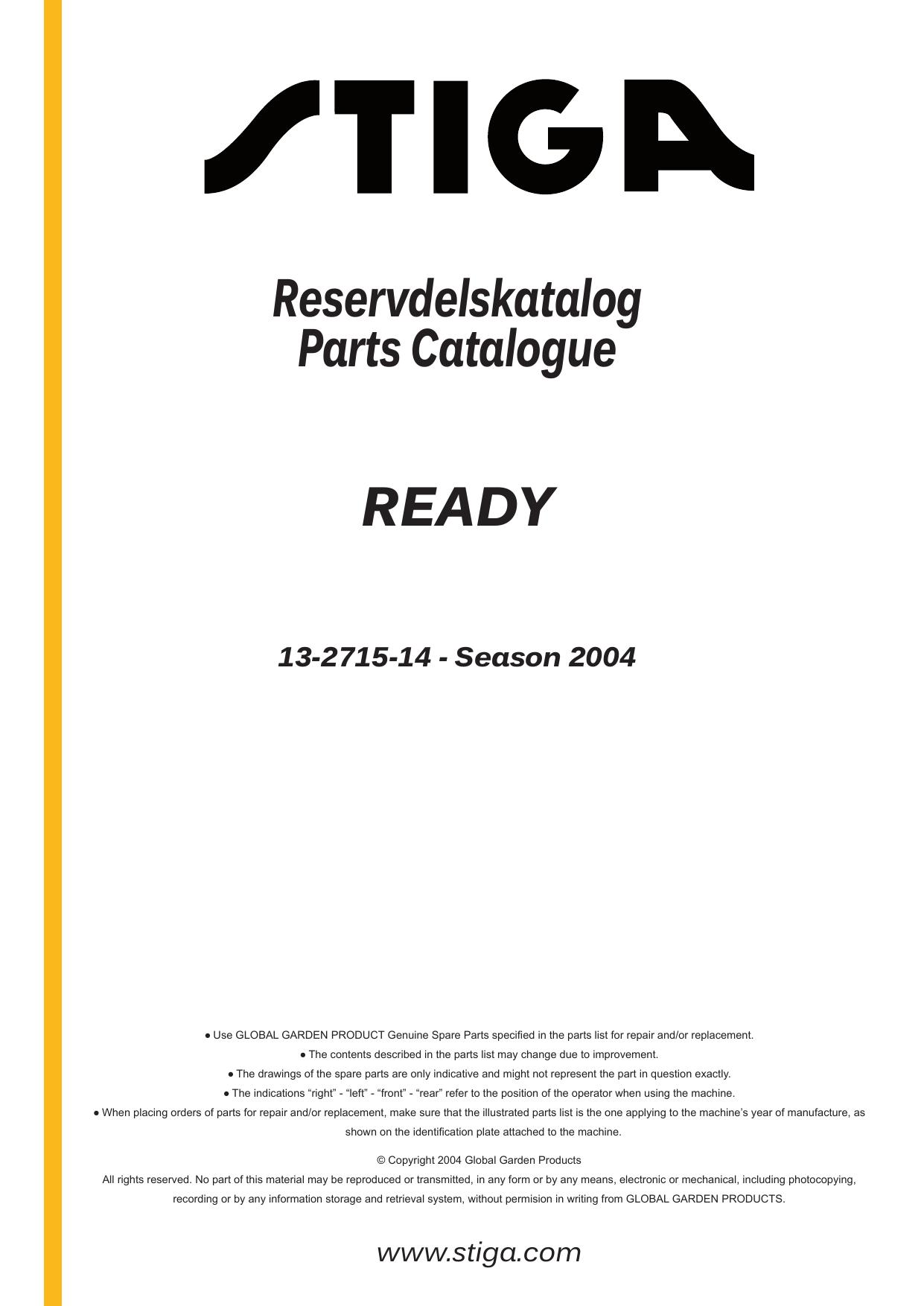 Stiga Ready Manual Electrical Wiring Diagram For The Es10pc System Array Reservdelskatalog Parts Catalogue 13 2715 14 Manualzz Com Rh