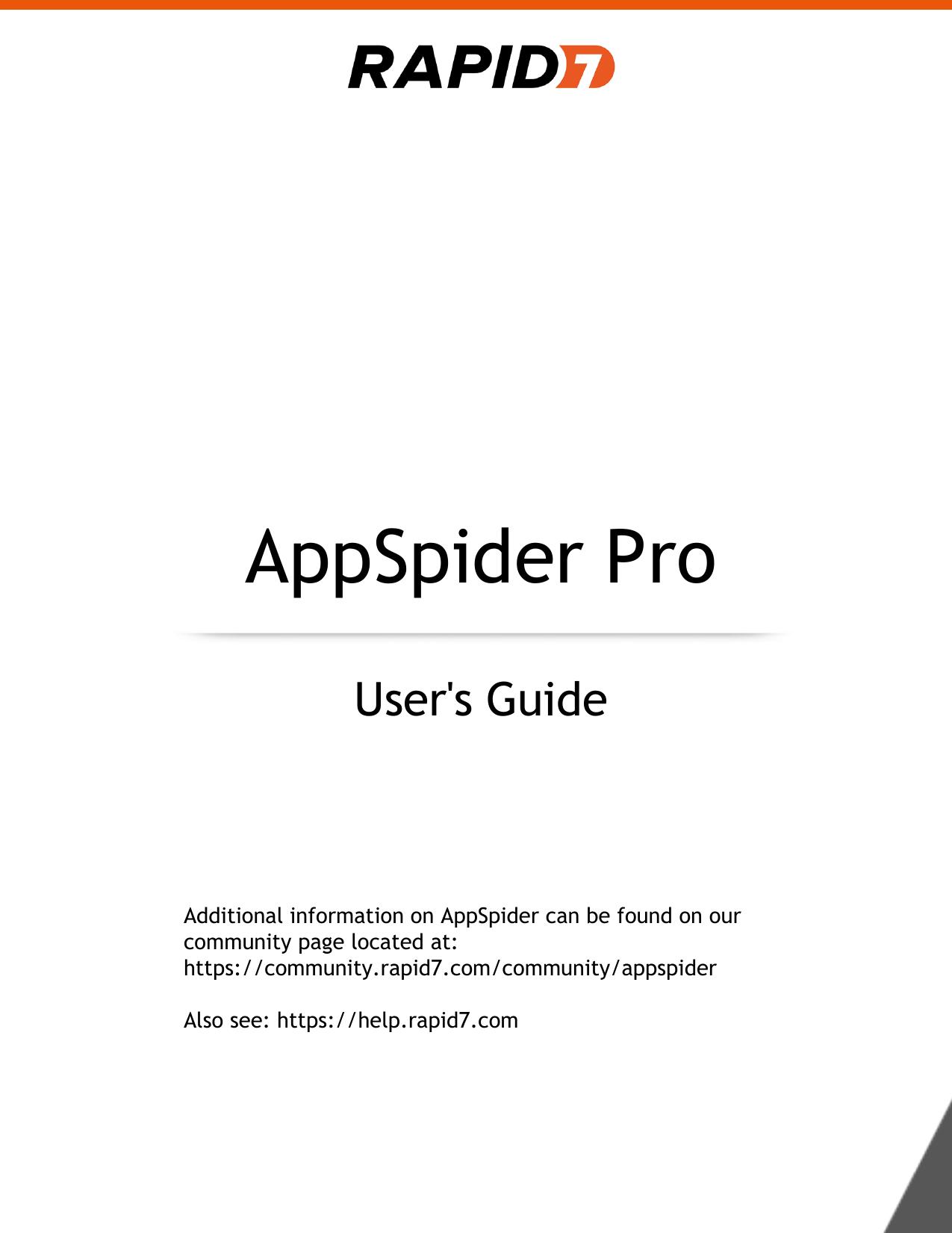 AppSpider Pro 7 0 User Guide | manualzz com