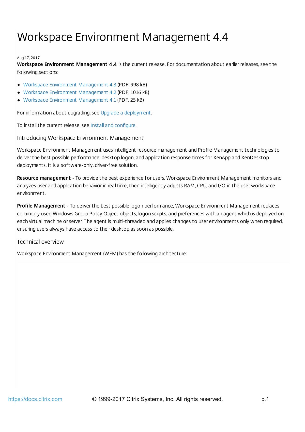 Workspace Environment Management 4 4 | manualzz com