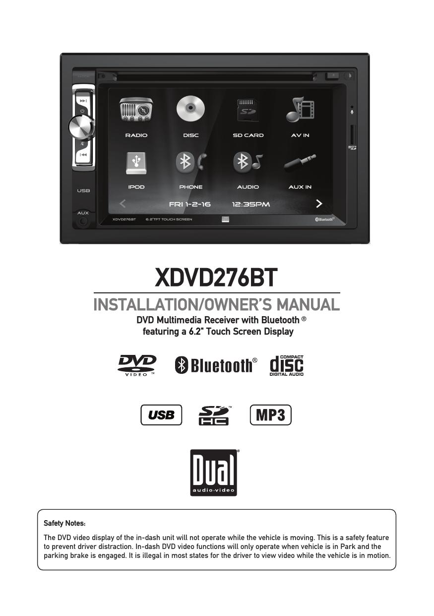 XDVD276BT - Dual Electronics   manualzz com