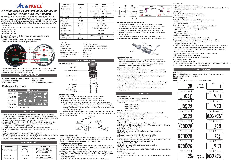 Acewell Gauge Instructions EN   Manualzzmanualzz