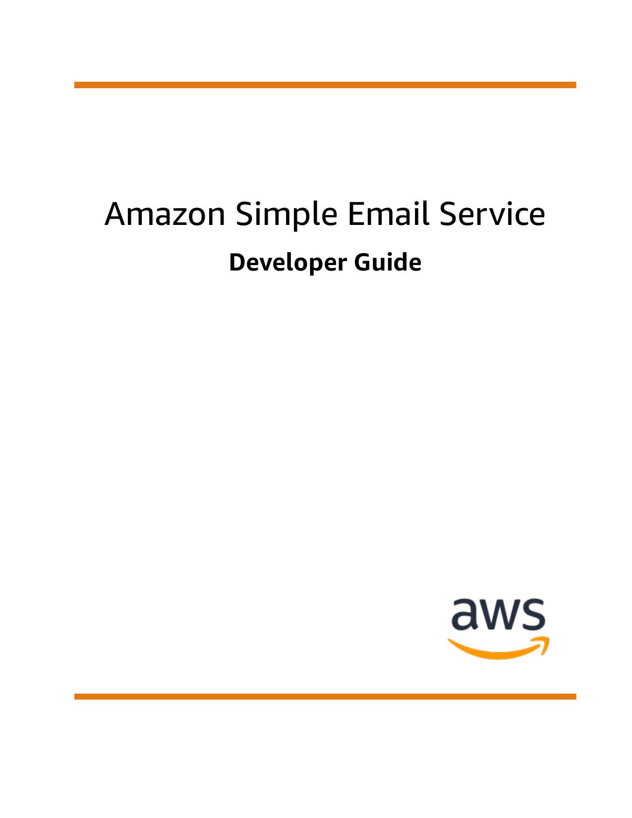 Amazon Simple Email Service - Developer Guide | manualzz com