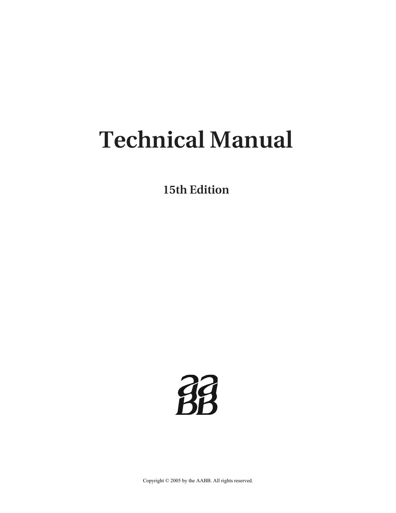 aabb technical manual 15th ed 2005 manualzz com rh manualzz com AABB Technical Manual Purple aabb technical manual 16th edition pdf