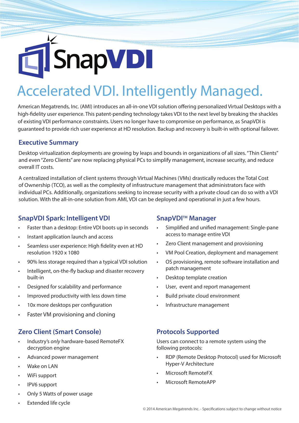 Accelerated VDI  Intelligently Managed  | manualzz com