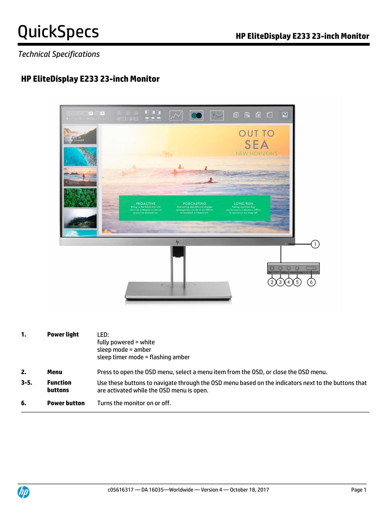 HP EliteDisplay E233 23   manualzz com