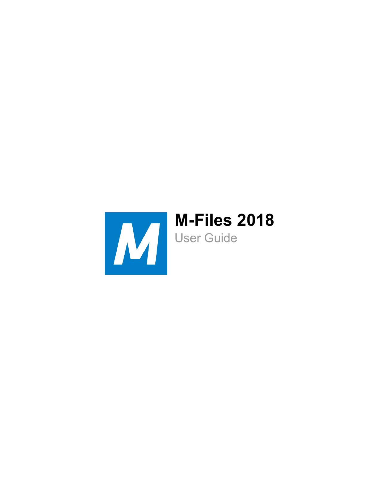 M-Files User Guide | manualzz com