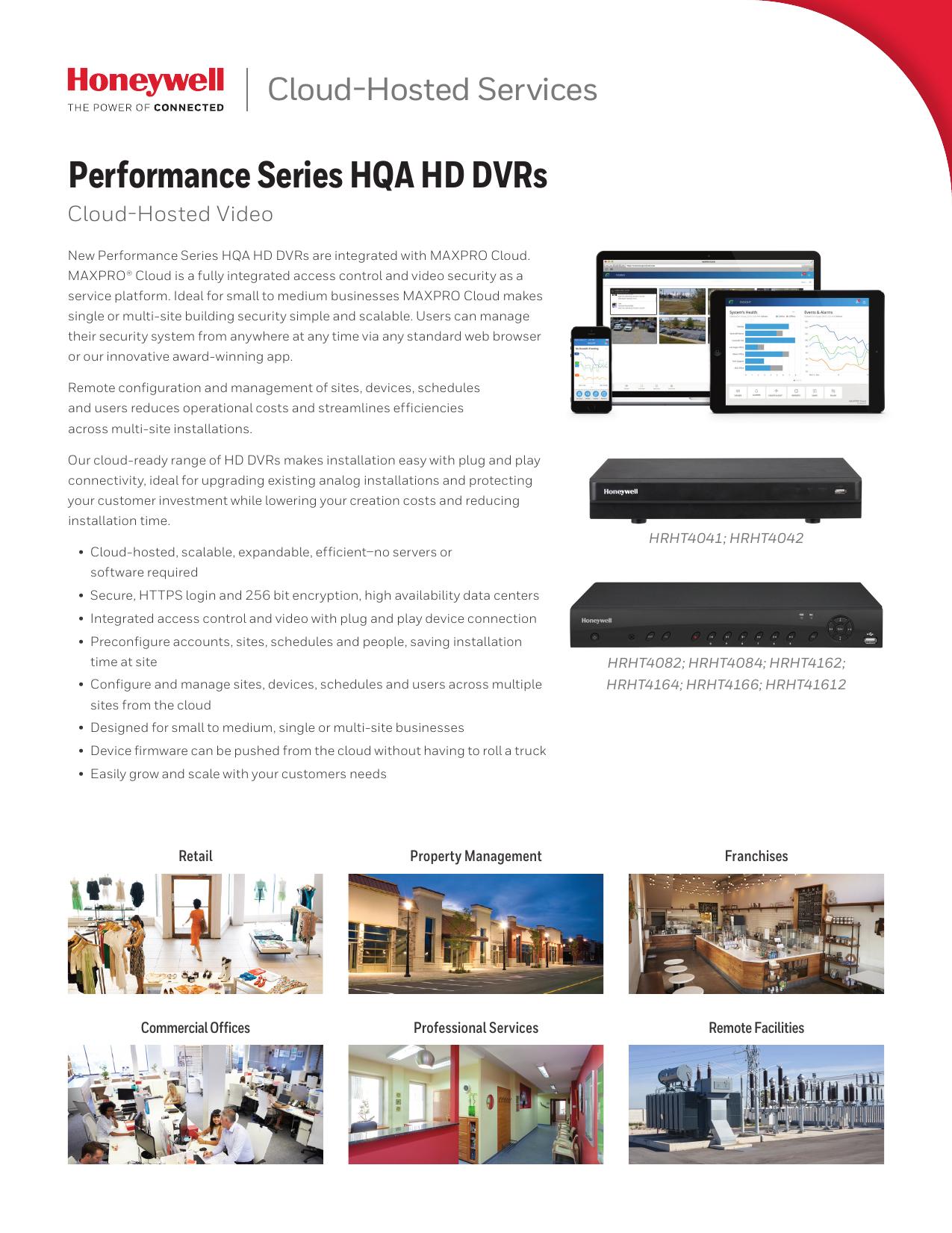 Cloud-Hosted Video Services HQA DVR Cloud Data Sheet | manualzz com