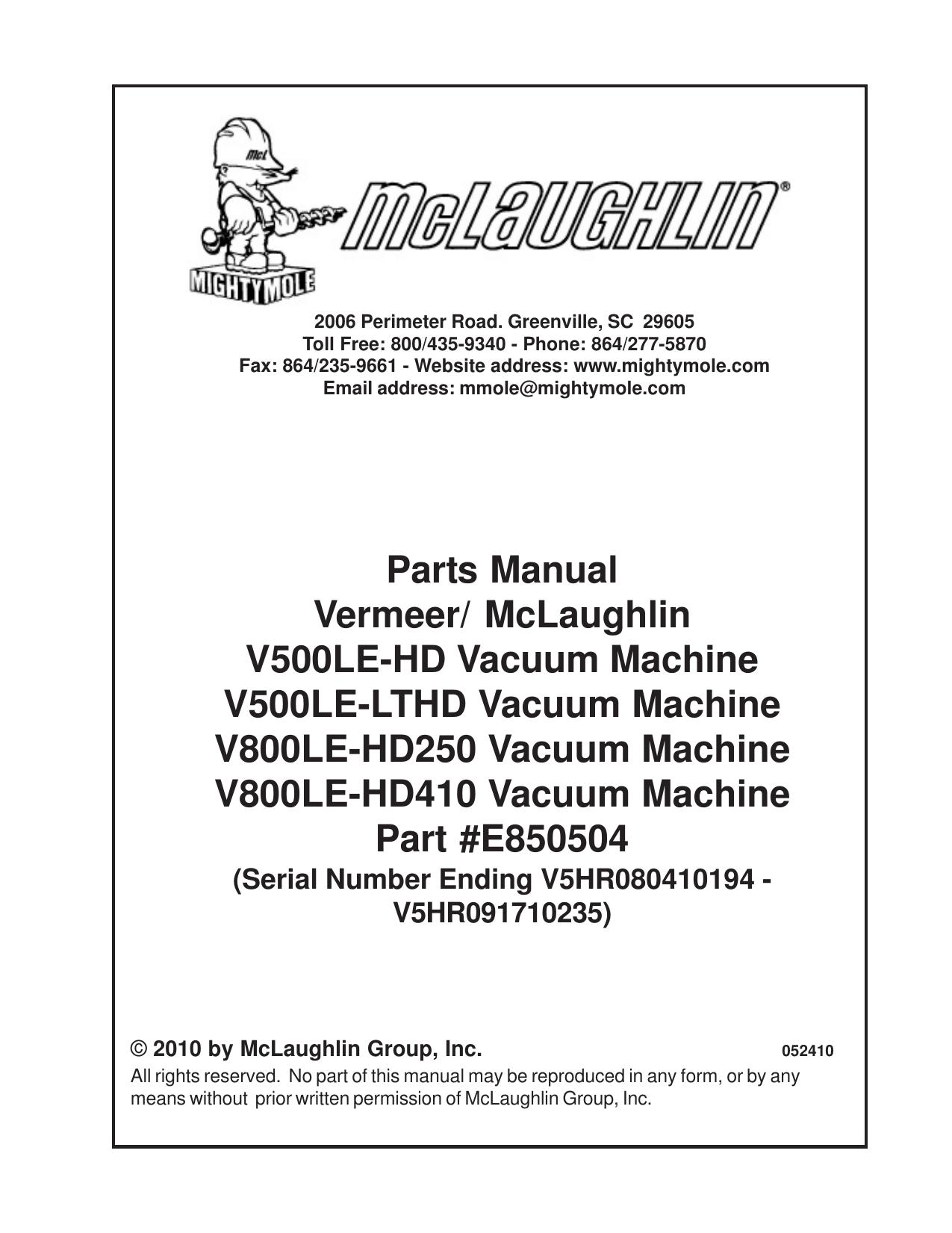 vermeer alternator wiring diagram v500 800le hd parts manual sn v5hr080410194 manualzz  v500 800le hd parts manual sn