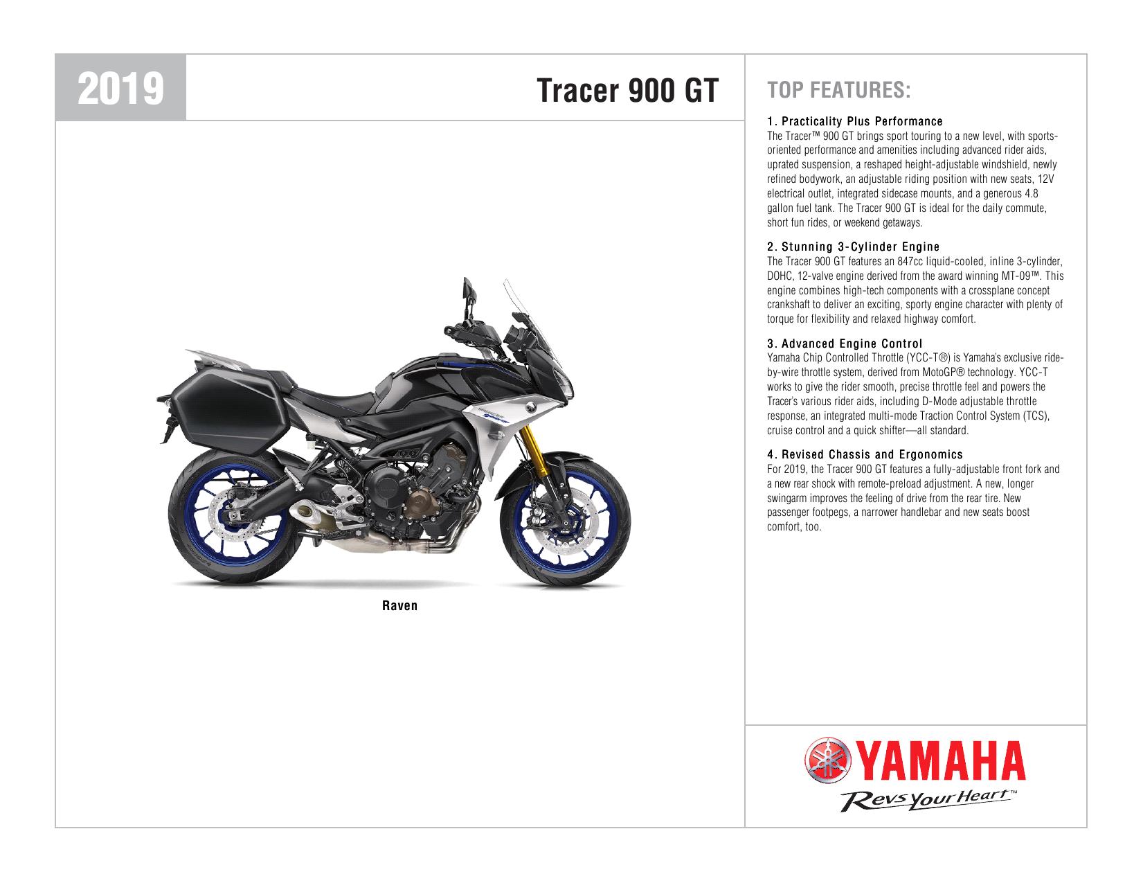 Tracer 900 GT - Yamaha Motorsports | manualzz com