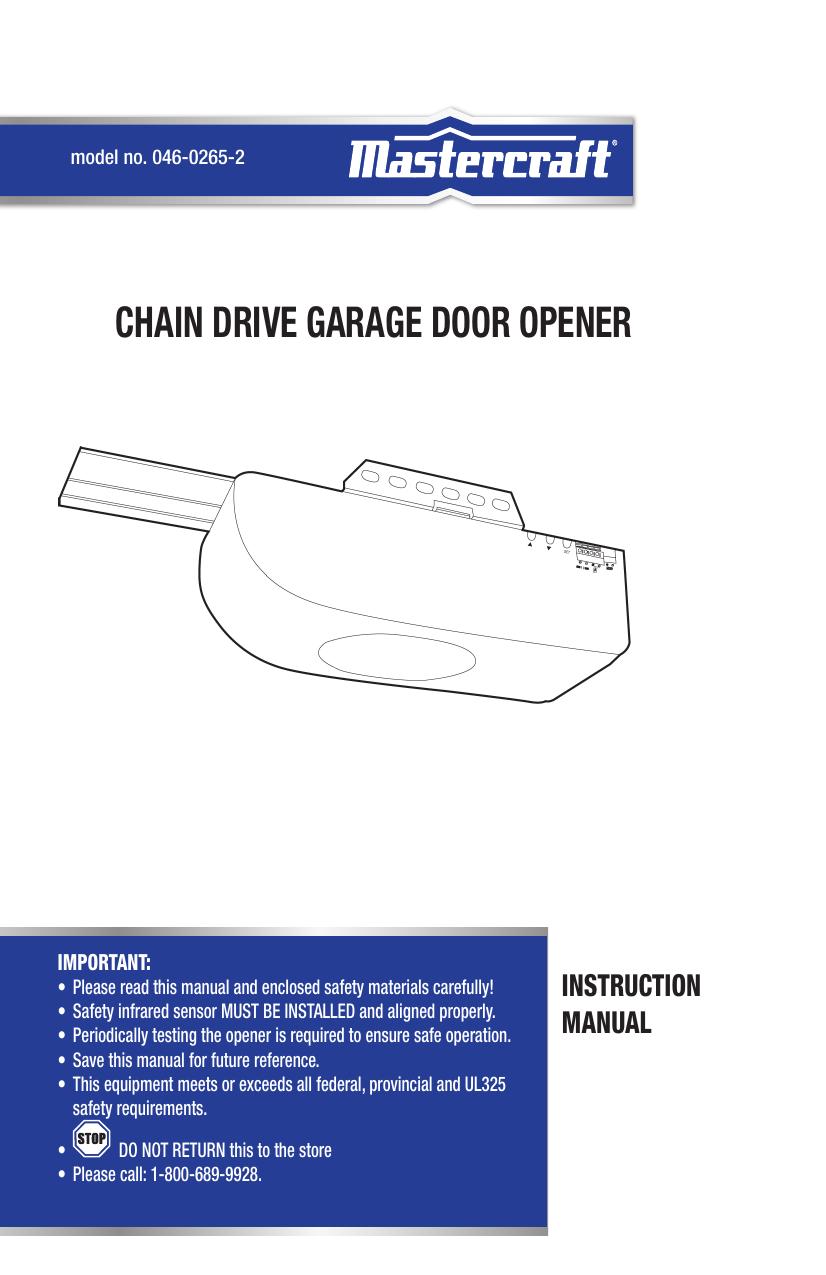 Chain Drive Garage Door Opener Reinforcement Bracket On Motor Diagram