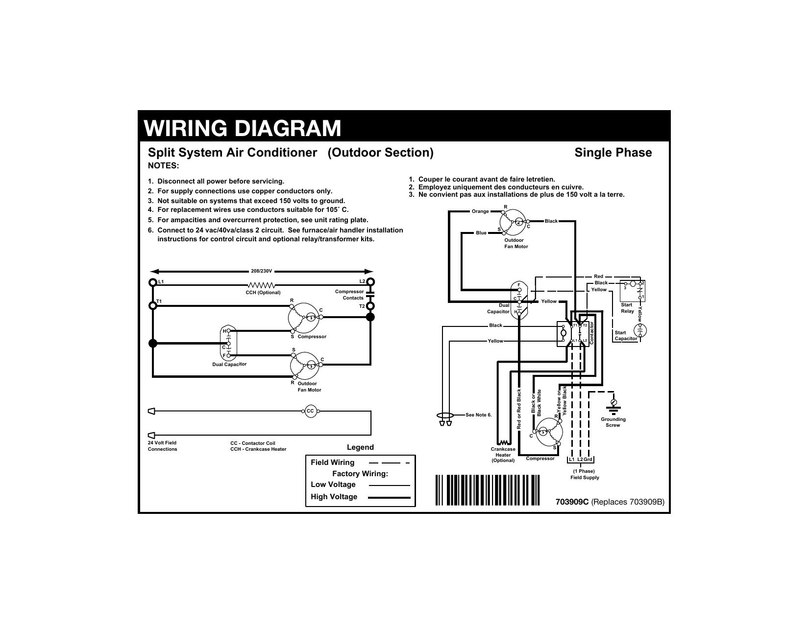 [DIAGRAM_38DE]  WIRING DIAGRAM | Manualzz | 208 Volt Single Phase Wiring Diagram |  | manualzz