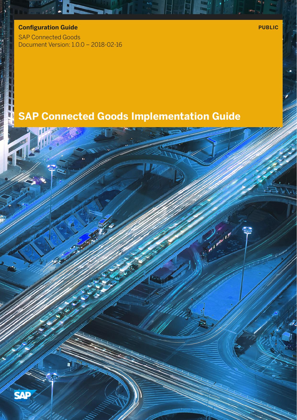 SAP Connected Goods Implementation Guide | manualzz com