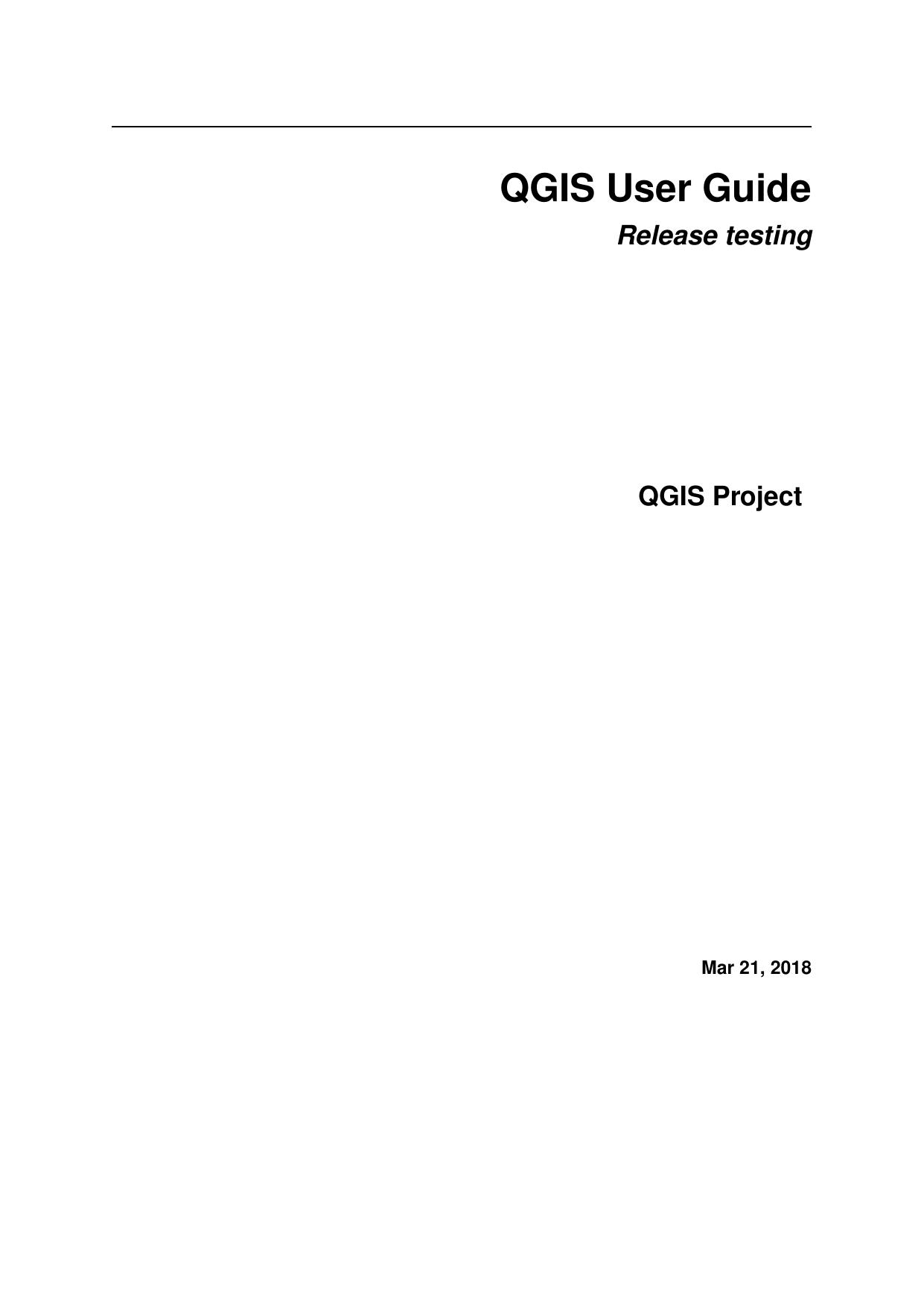 QGIS User Guide - QGIS Documentation | manualzz com