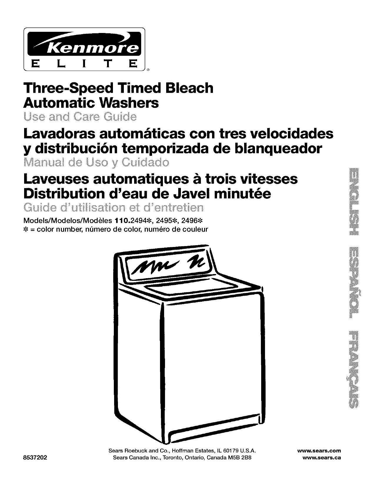 Three-Speed Timed Bleach Lavadoras autom_ticas con tres   manualzz.com