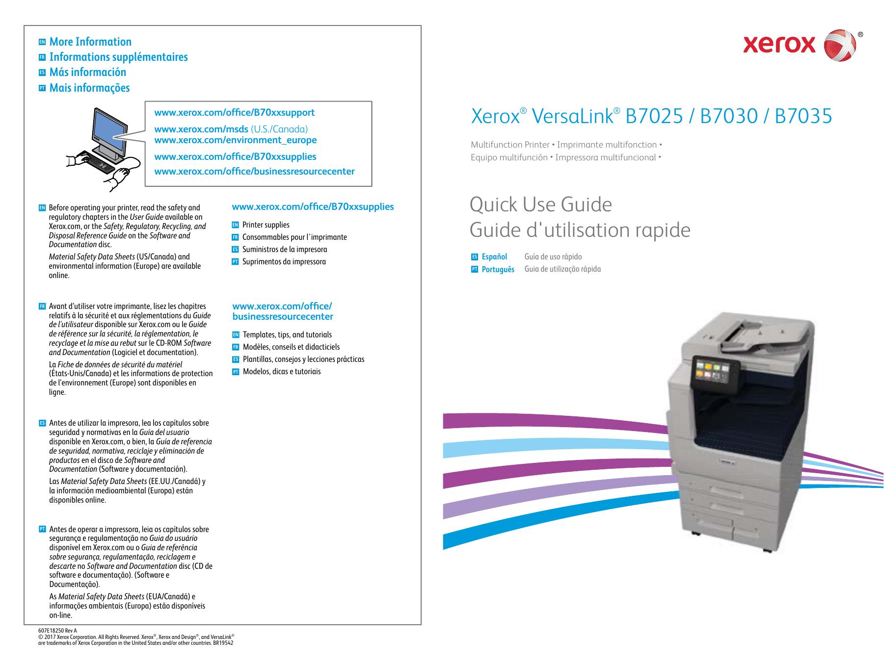 Xerox® VersaLink® B7025/B7030/B7035   manualzz com