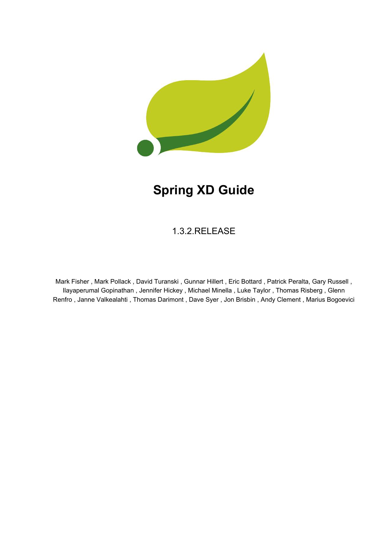 Spring XD Guide | manualzz com