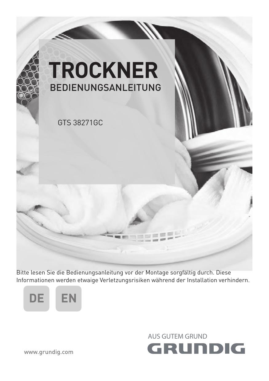 Trockner Manualzzcom