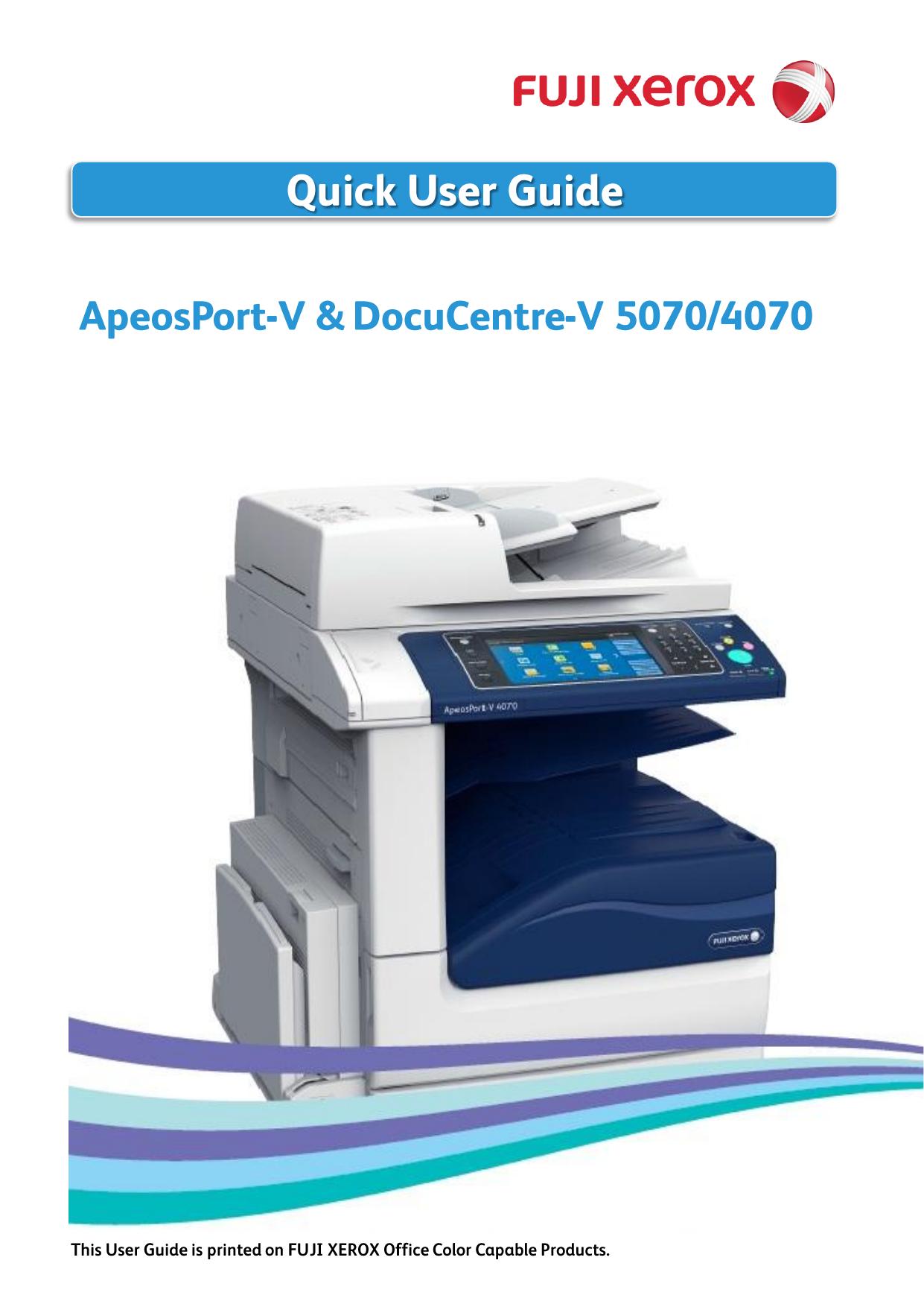 ApeosPort/DocuCentre-V 5070/4070 | manualzz com