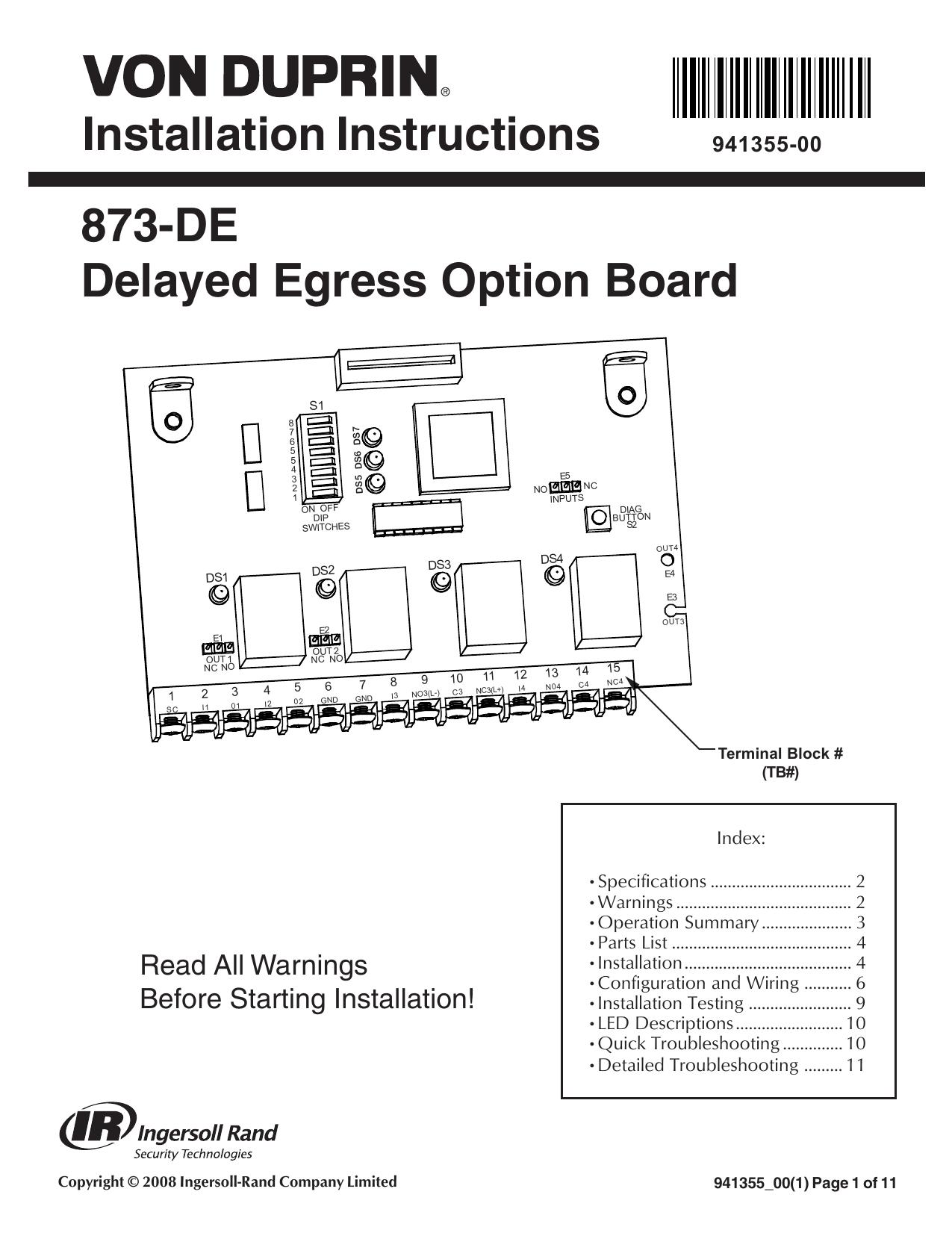 Von Duprin Ps873 Wiring Diagram. . Wiring Diagram on