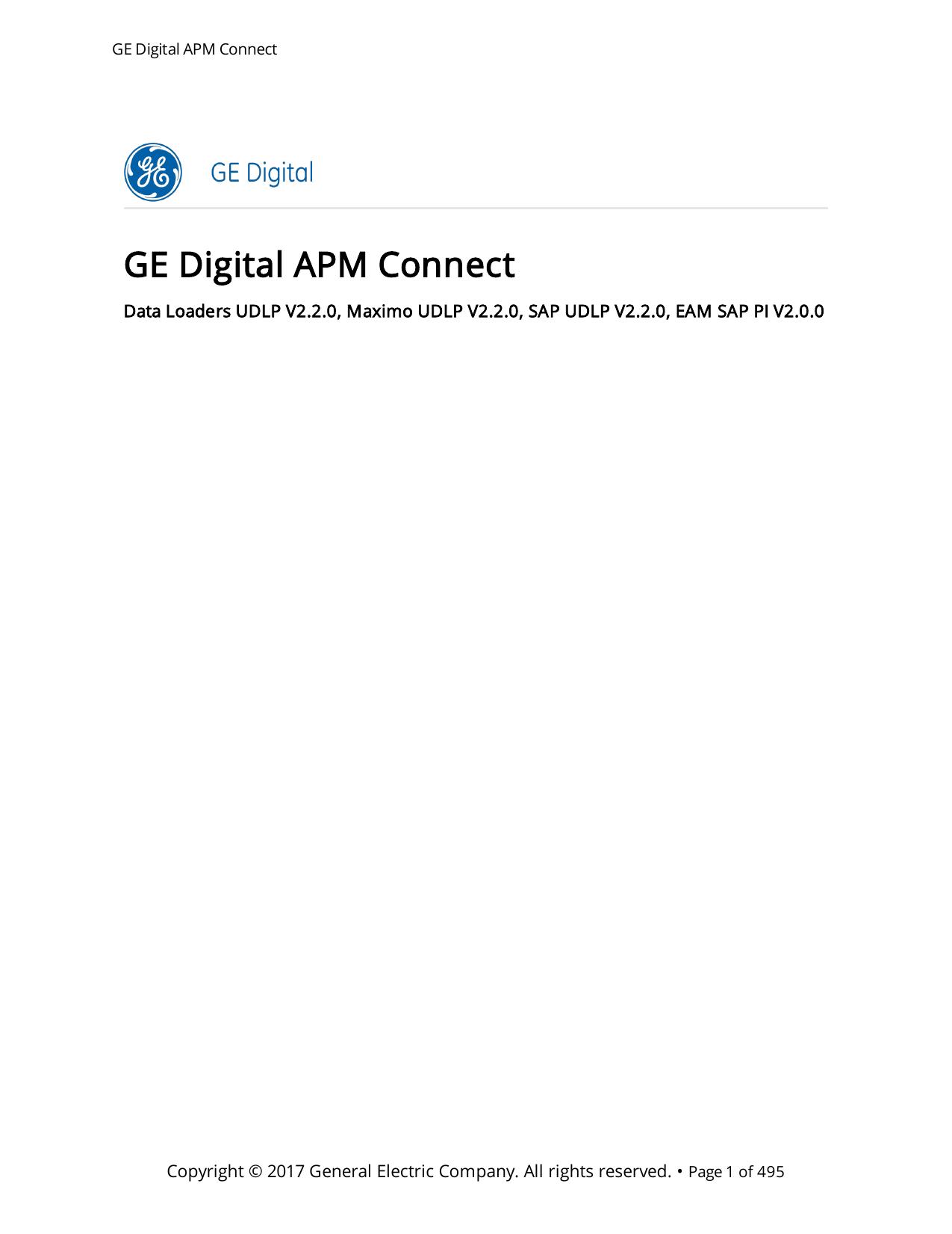 GE Digital APM Connect - Asset Performance Management | manualzz com