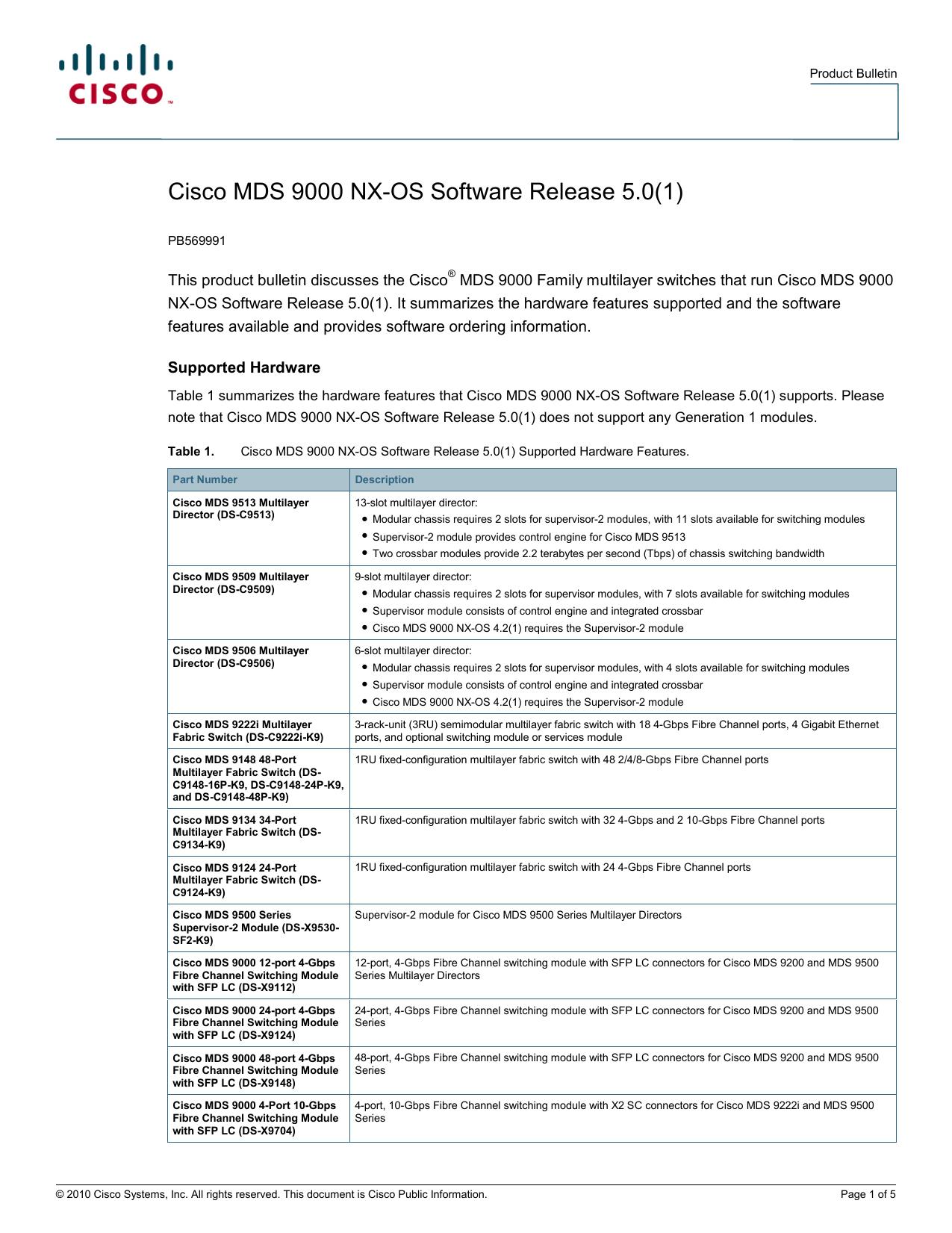 Cisco MDS 9000 NX-OS Software Release 5 0(1) | manualzz com