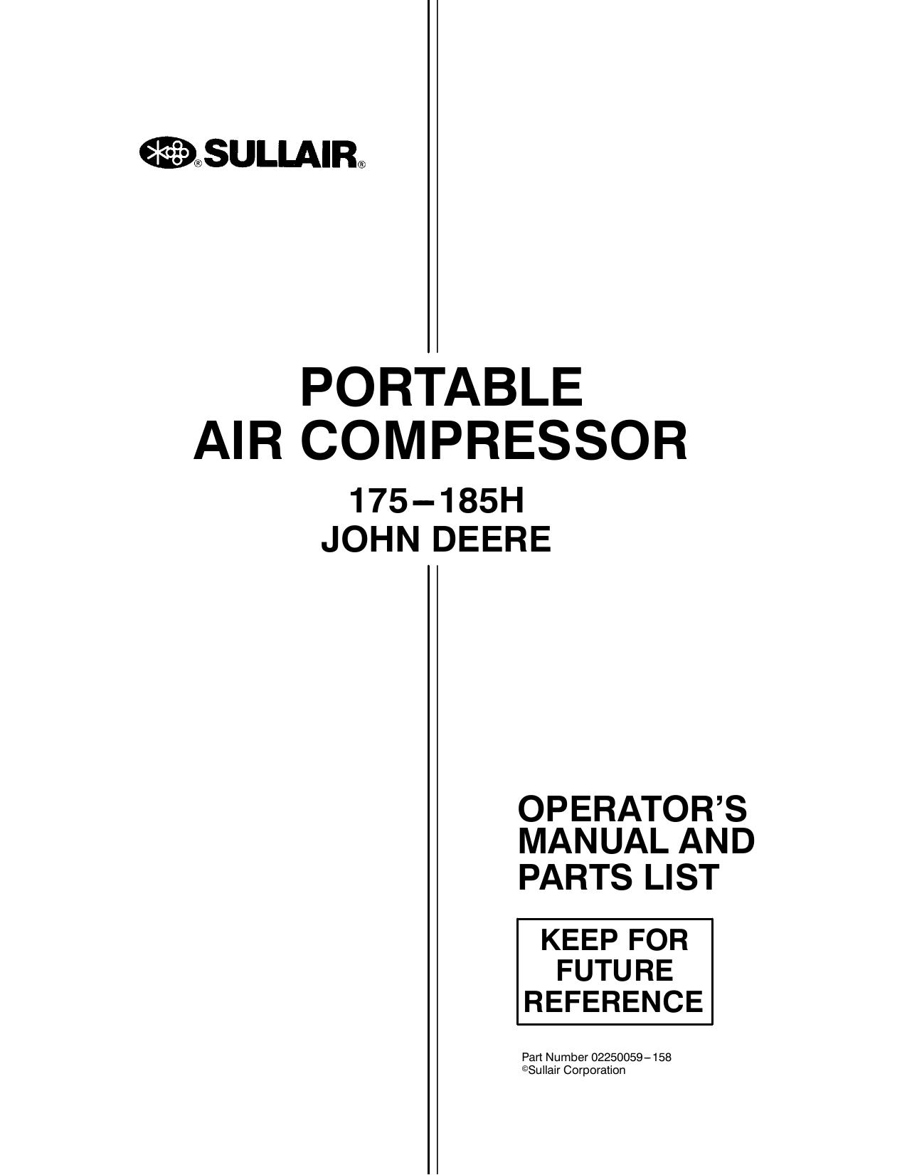 PORTABLE AIR COMPRESSOR | manualzz com