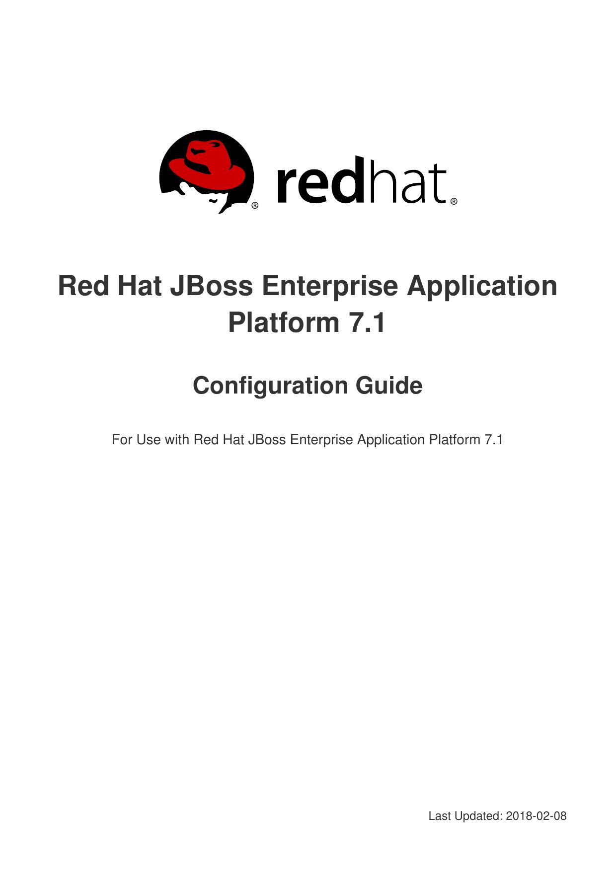 Red Hat JBoss Enterprise Application Platform 7 1