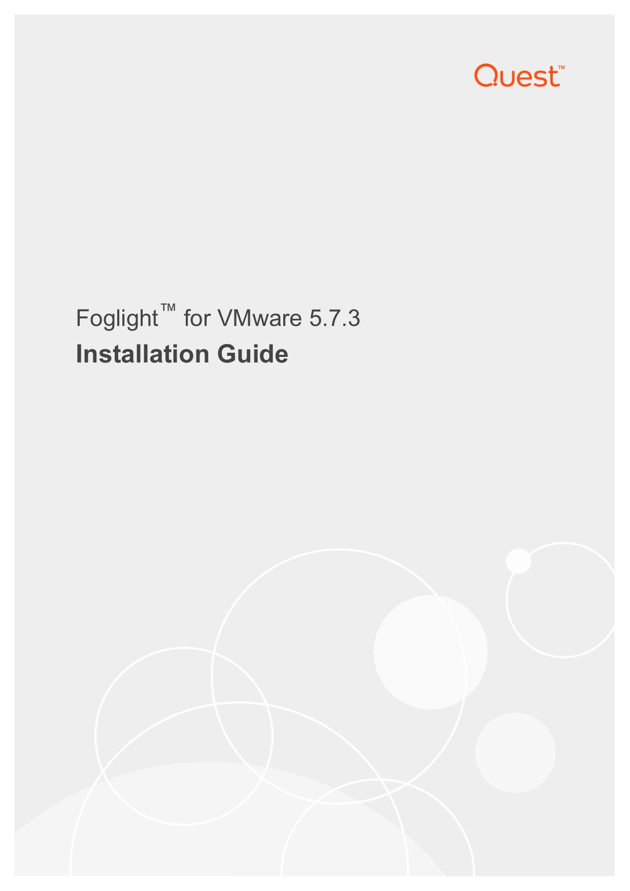 Foglight for VMware Installation Guide   manualzz com