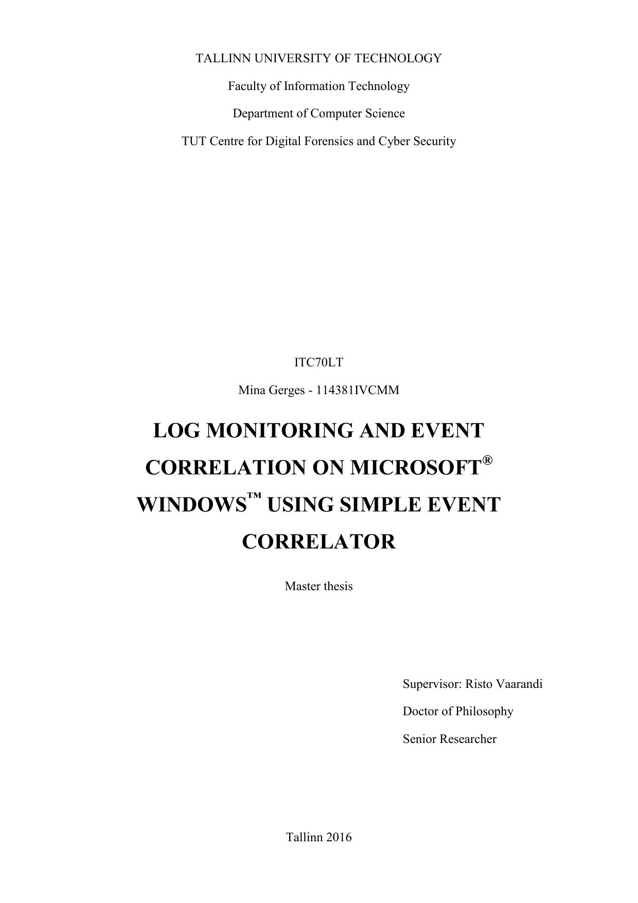 Windows OS event correlation | manualzz com