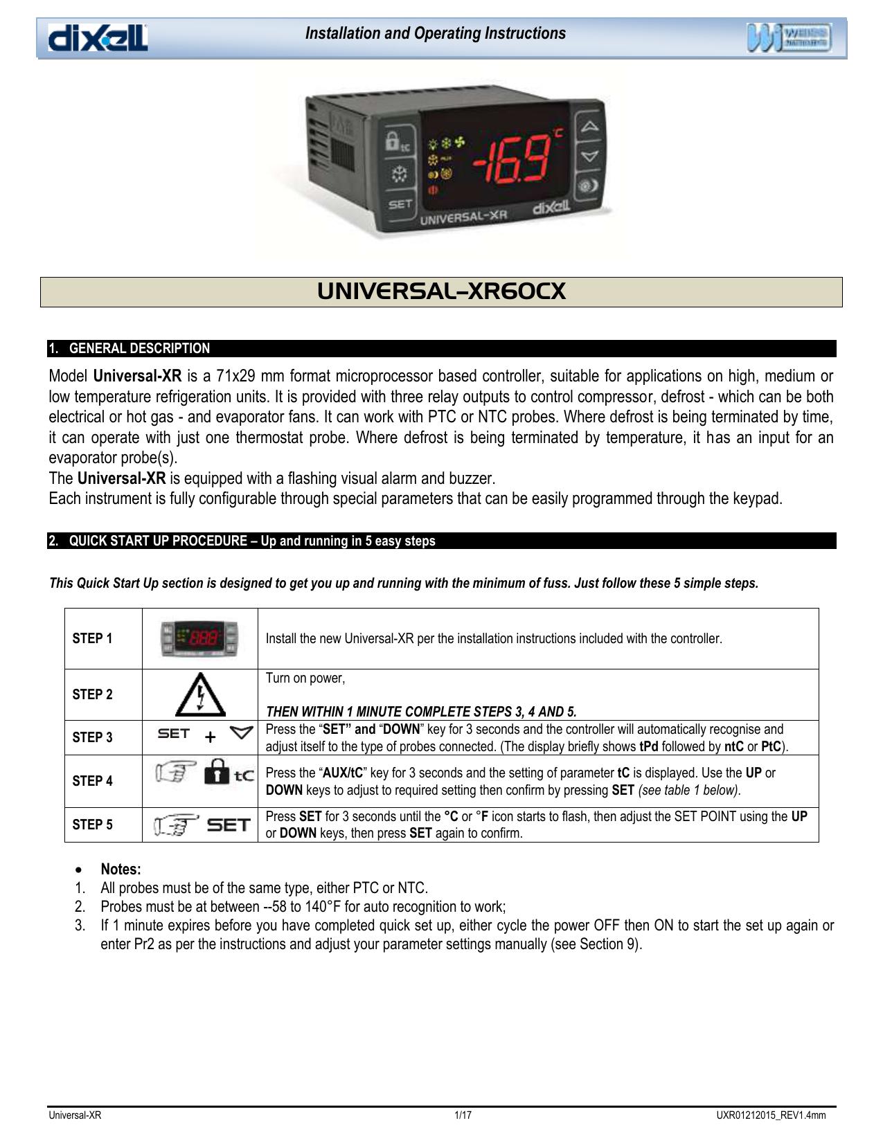 Dixell Universal R Installing Amp Manualzz