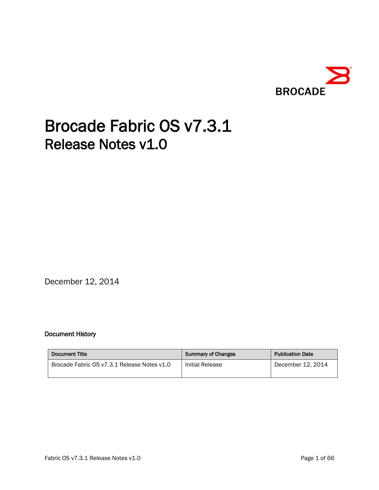 Brocade Fabric OS v7 3 0 release notes | manualzz com