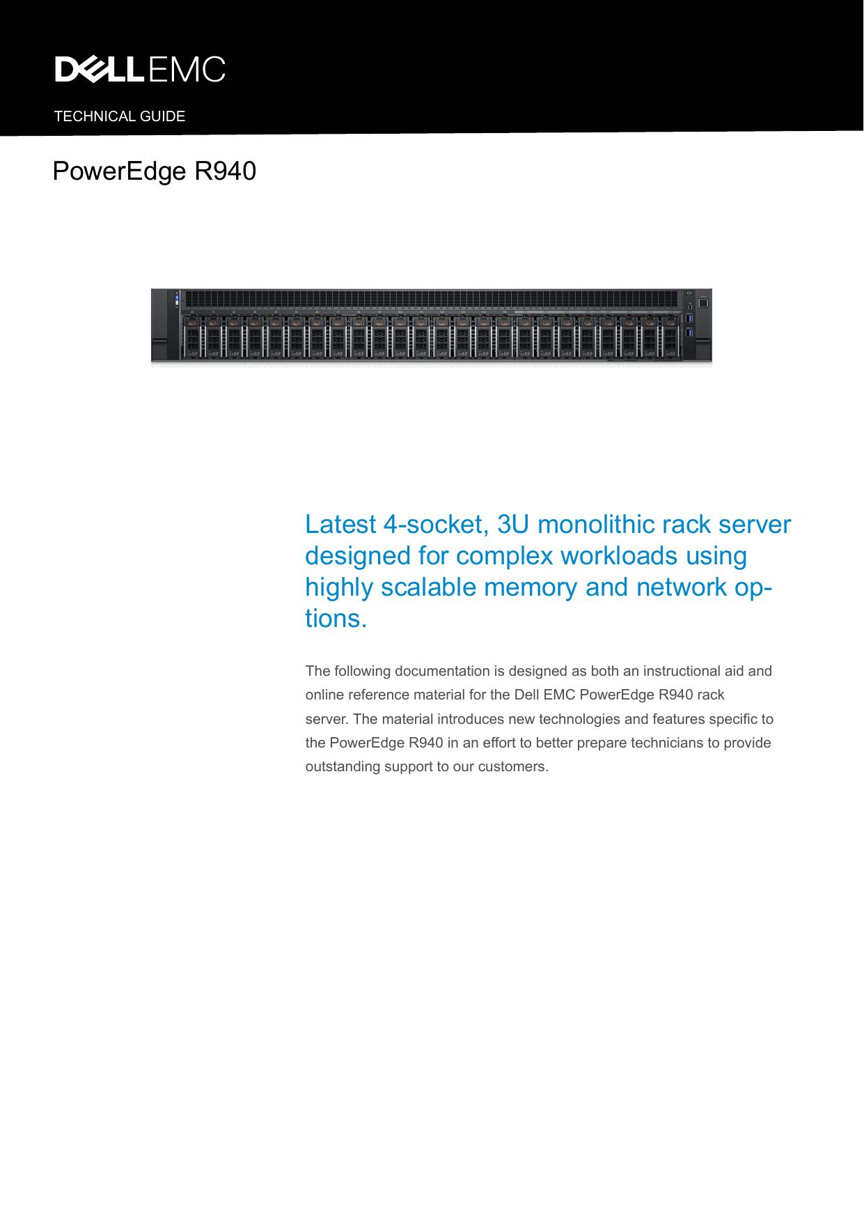 Dell PowerEdge R940 Technical Guide   manualzz com