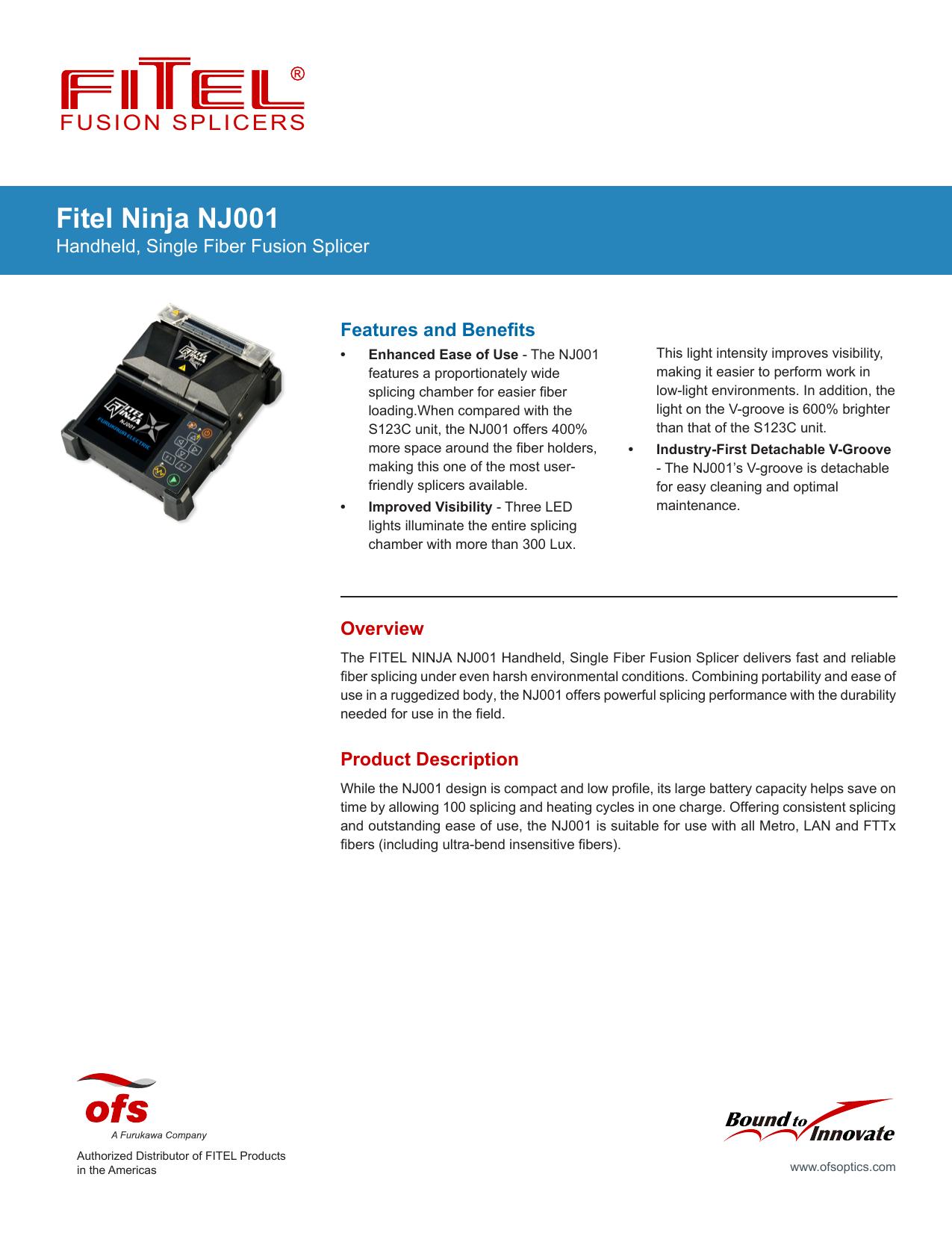 Fitel Ninja NJ001 - Fiber Optic Cables, Connectors, &
