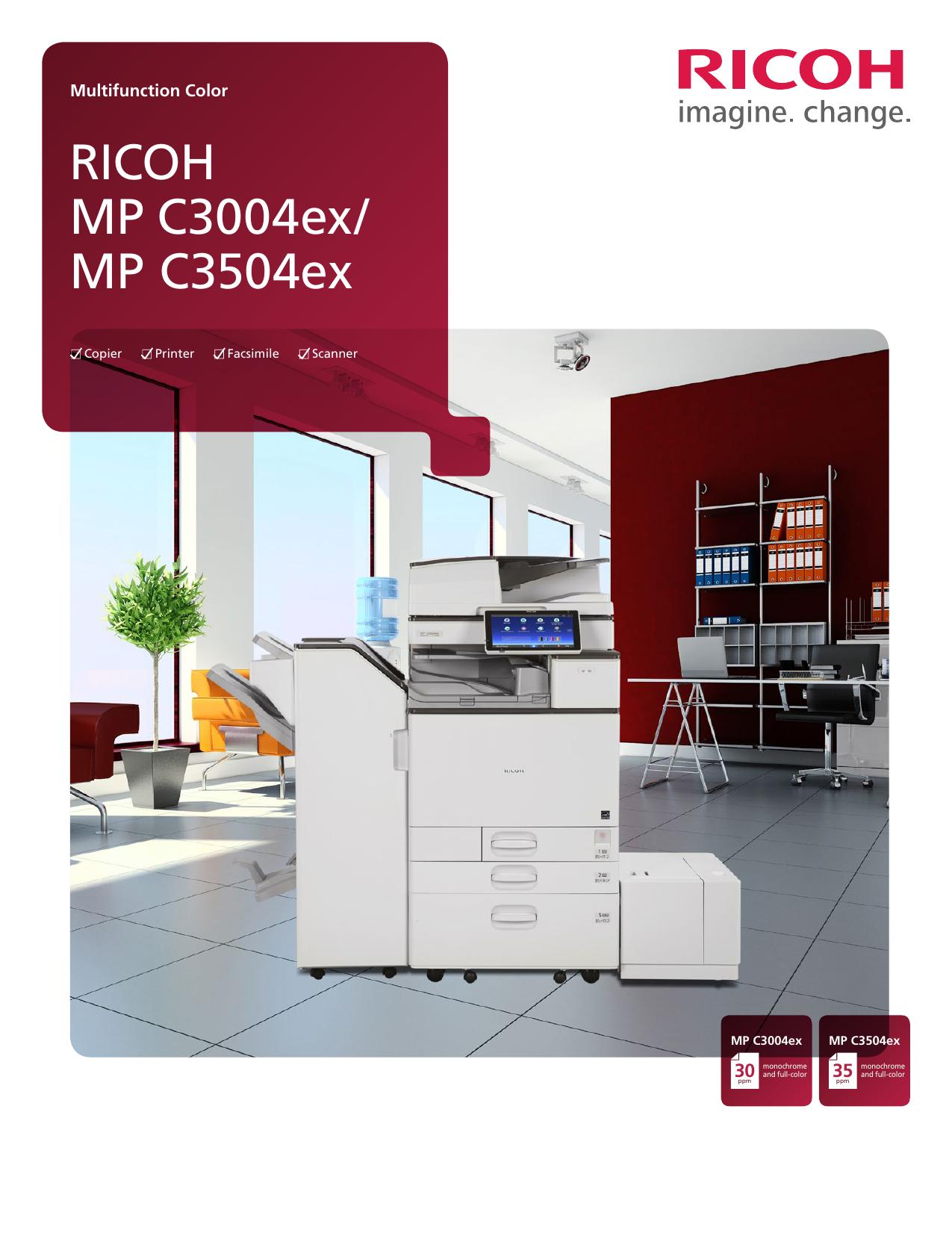 RICOH MP C3004ex/ MP C3504ex | manualzz com