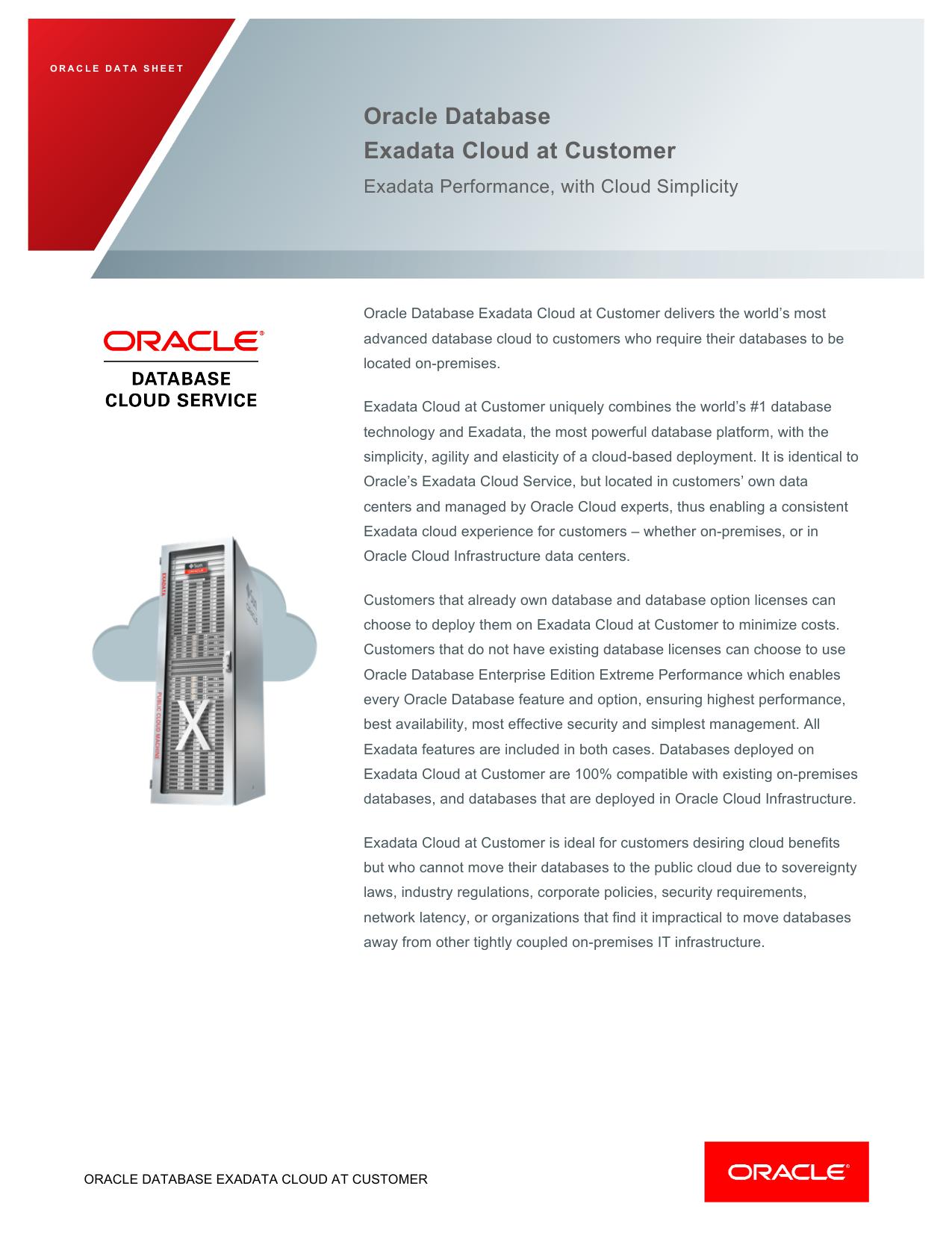 Oracle cloud at customer   Oracle Cloud at Customer: Bringing It All