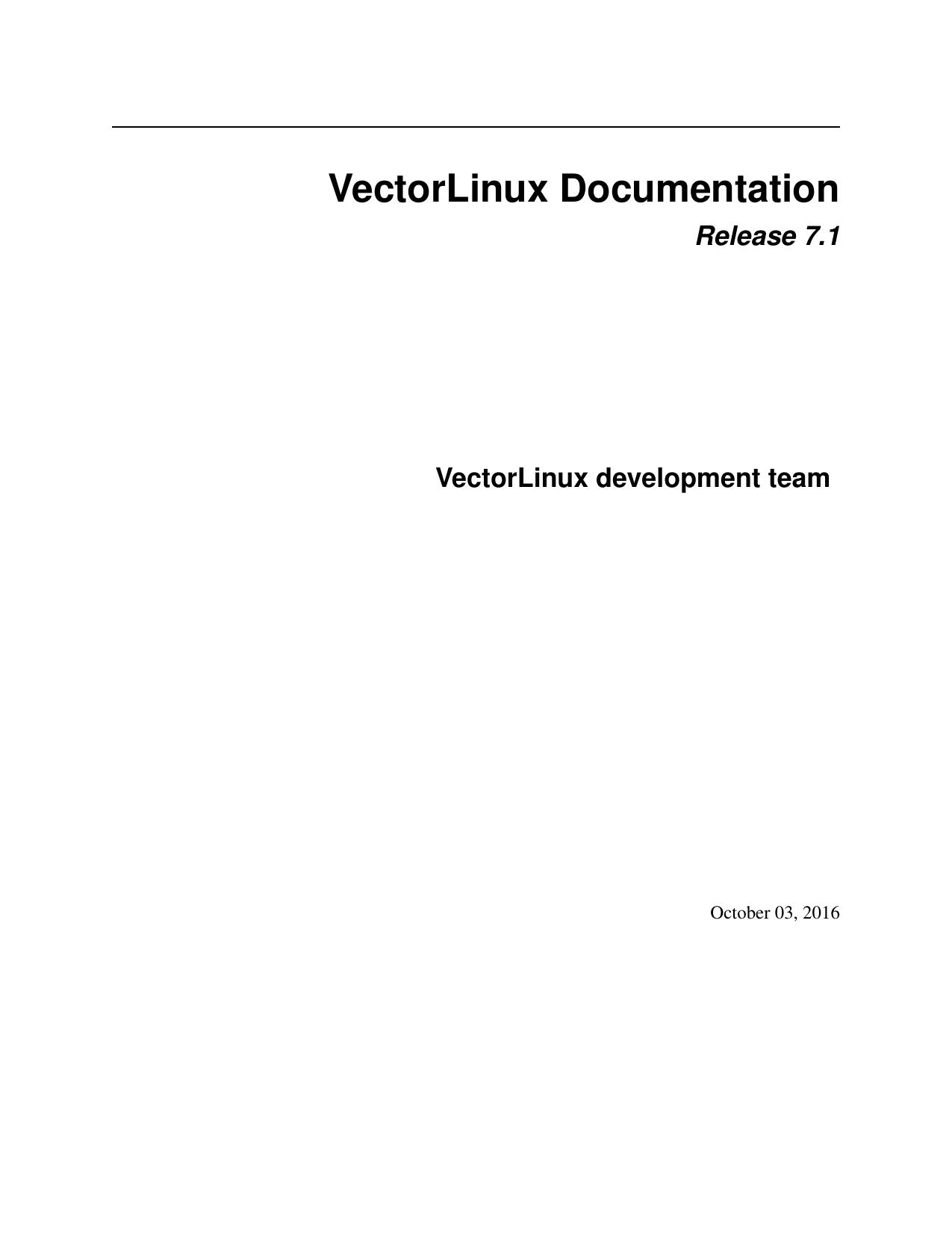 VectorLinux Documentation | manualzz com