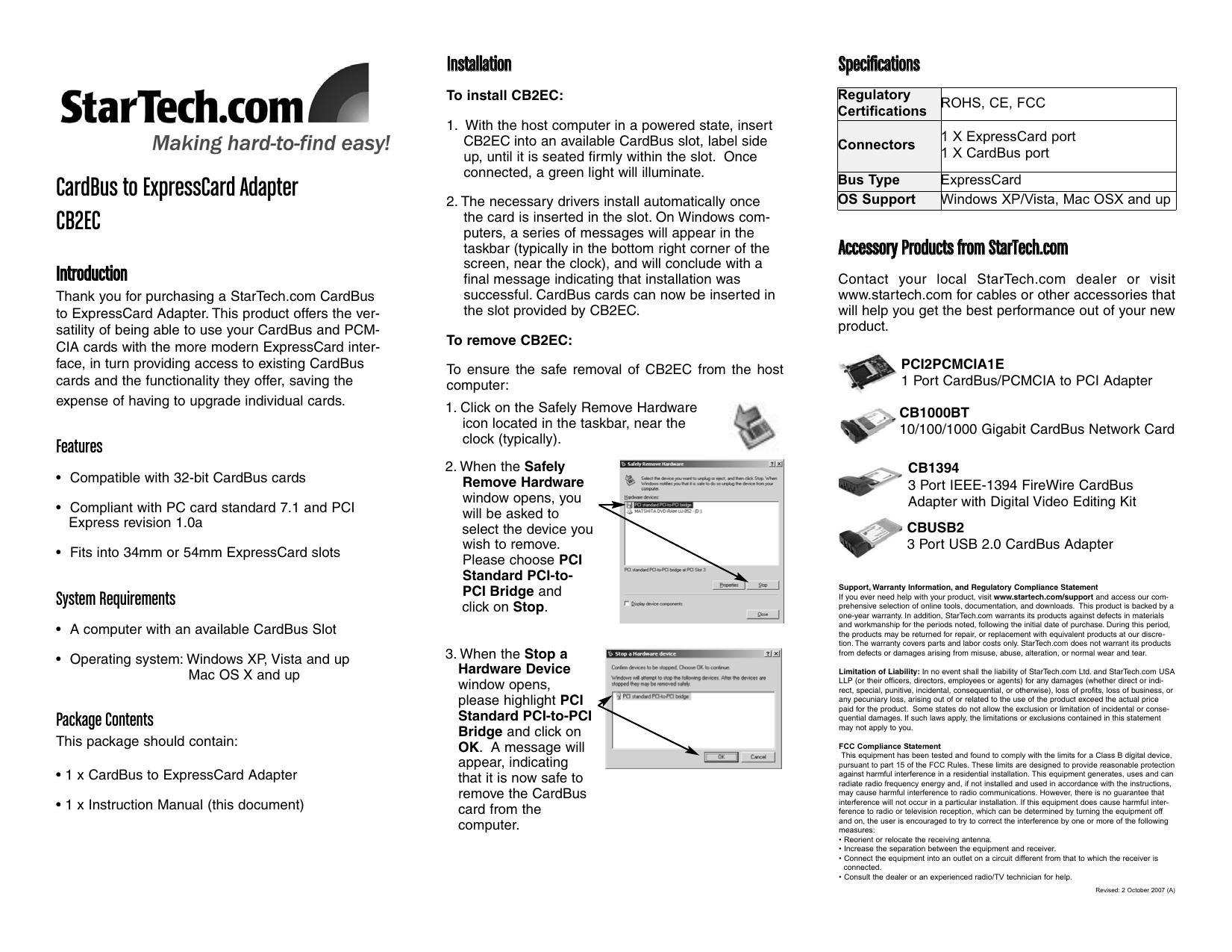 pcmcia cardbus nic bottom connector