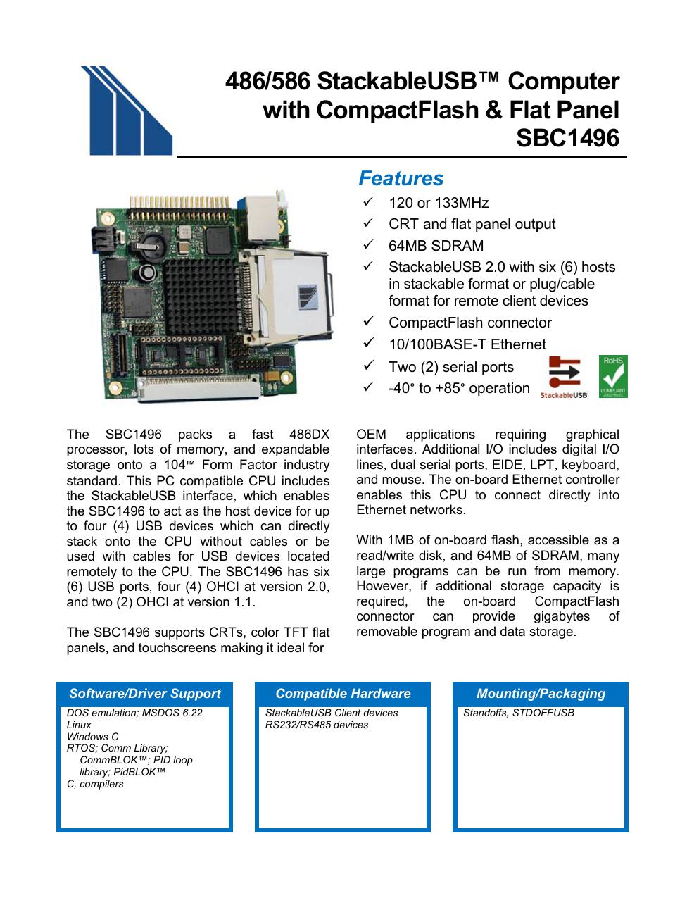 Sbc1496 - Micro/sys | manualzz com