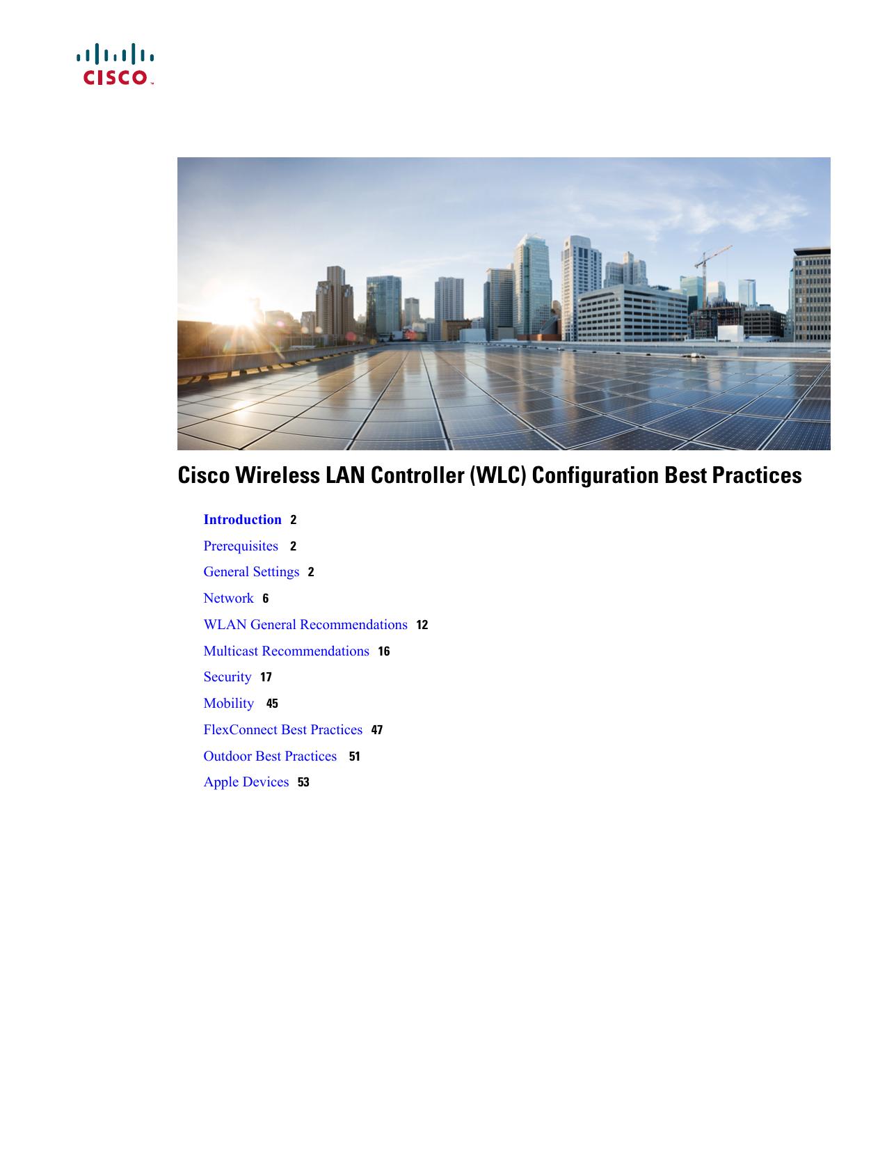 Cisco Wireless LAN Controller (WLC) Configuration Best