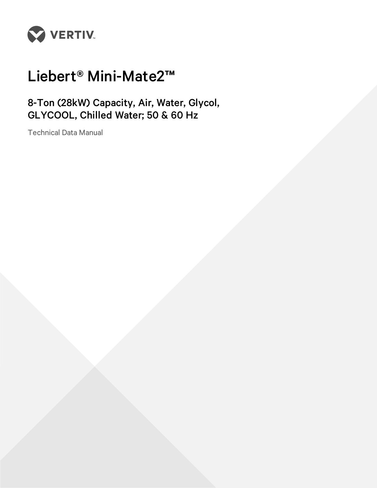 Liebert Mini-Mate2—8 ton Technical Data Manual | manualzz com