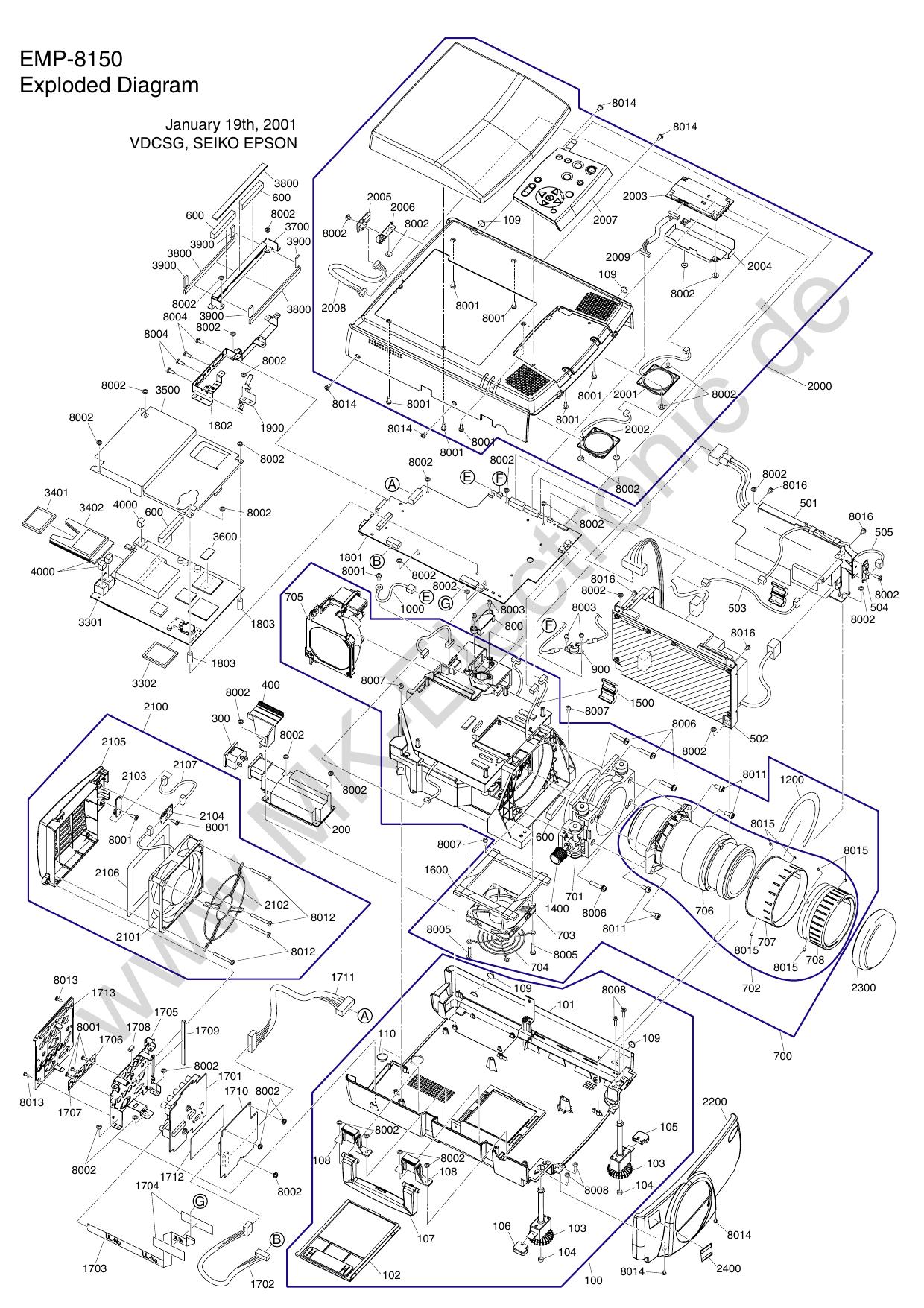 Epson EMP-8150 - MK Electronic | manualzz com