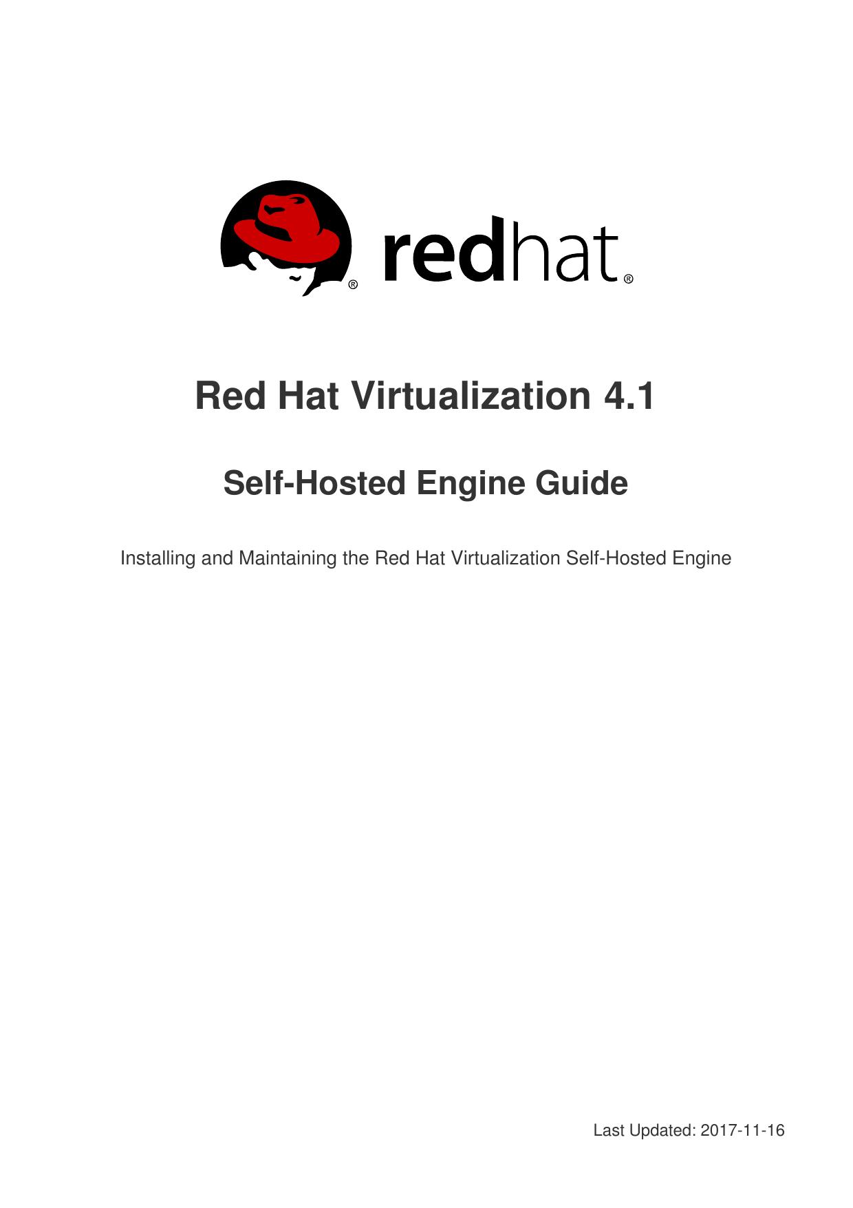 Self-Hosted Engine Guide | manualzz com